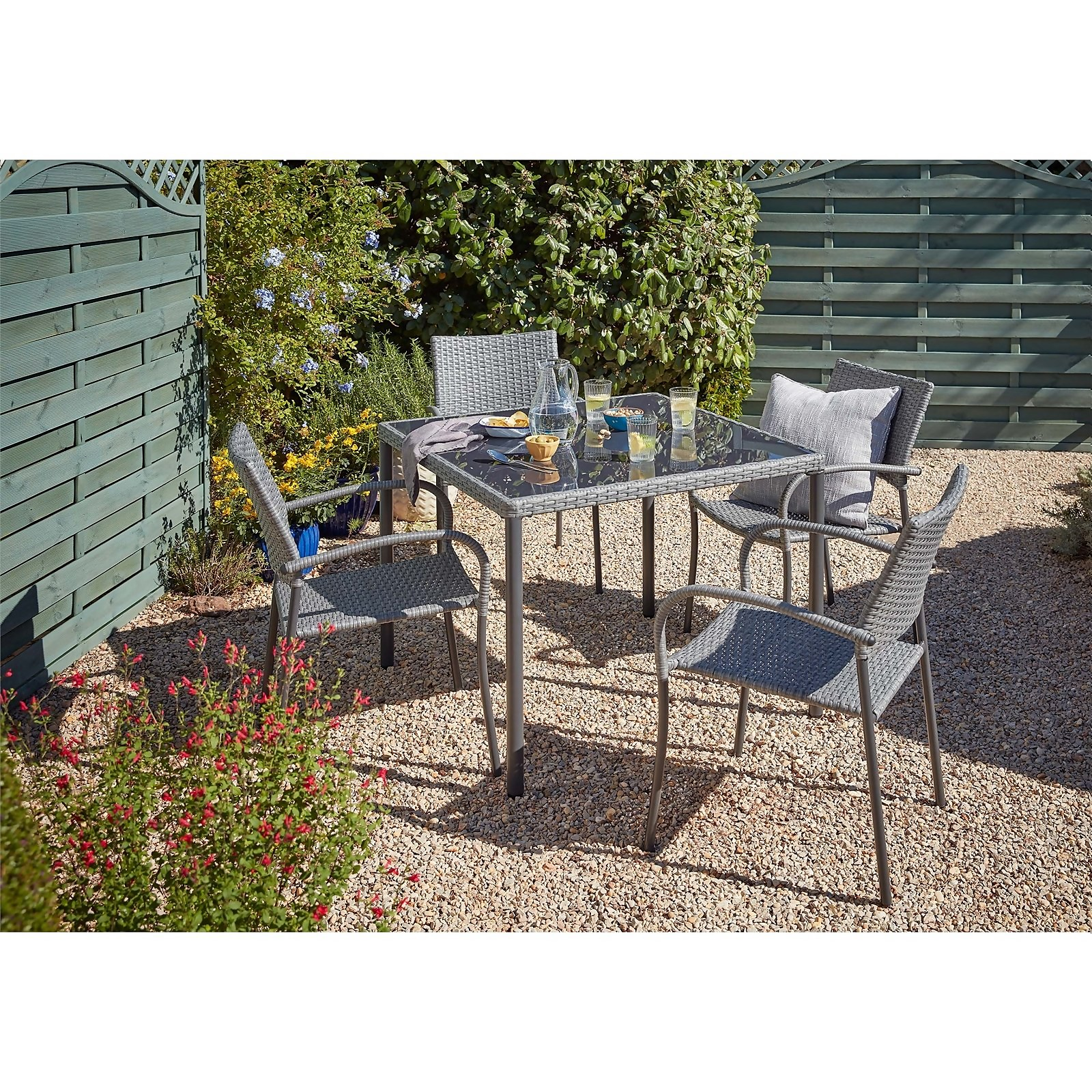 Bambrick 4 Seater Garden Dining Set