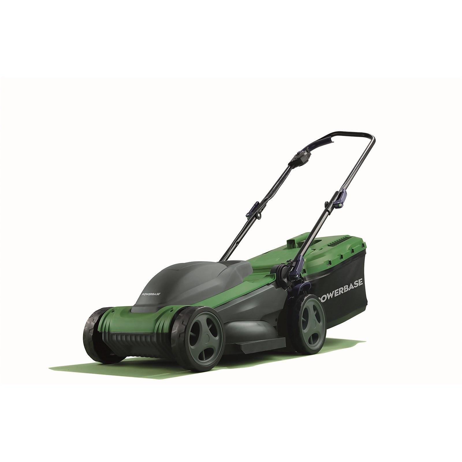 Powerbase 1400W Electric Lawn Mower 34cm