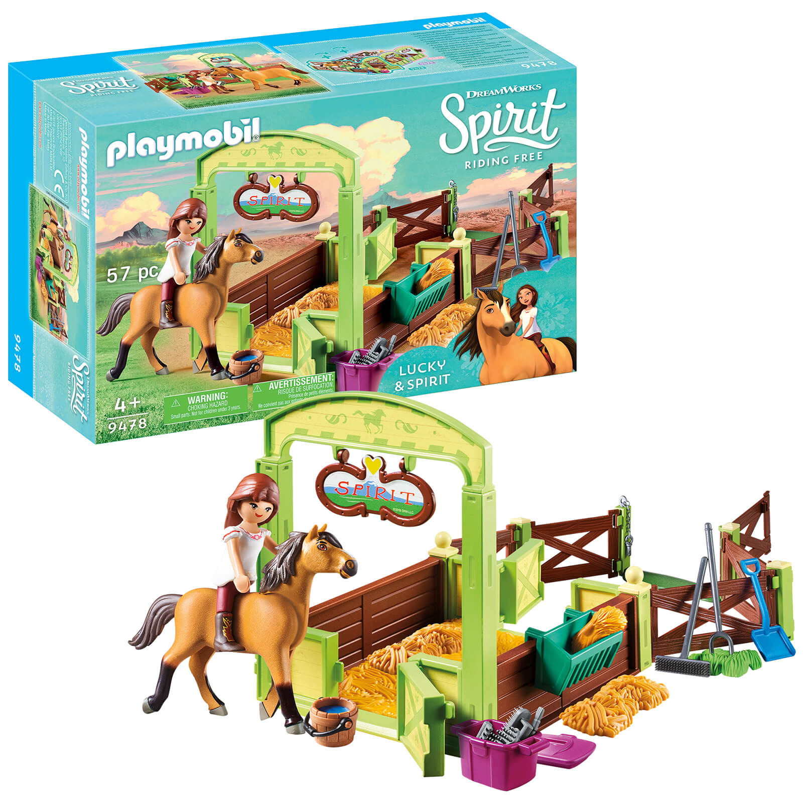 DreamWorks Spirit Lucky And Spirit With Horse Stall By Playmobil (9478)