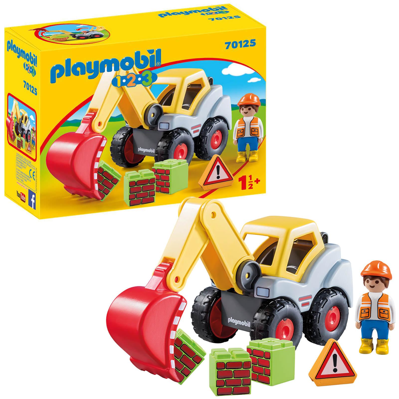 Playmobil 1.2.3 Shovel Excavator For Children 18 Months+ (70125)