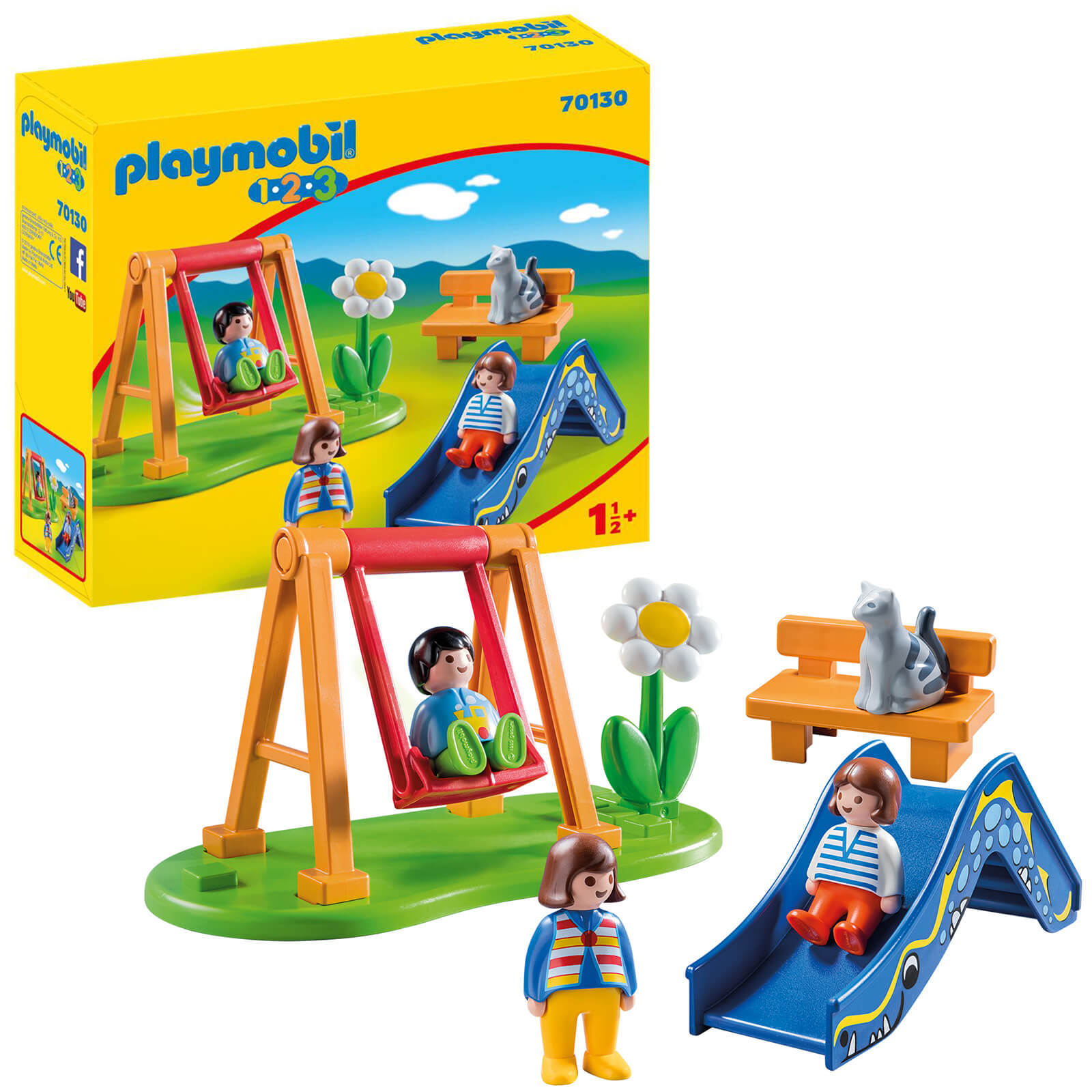 Playmobil 1.2.3 Childrens Playground For Children 18 Months+ (70130)
