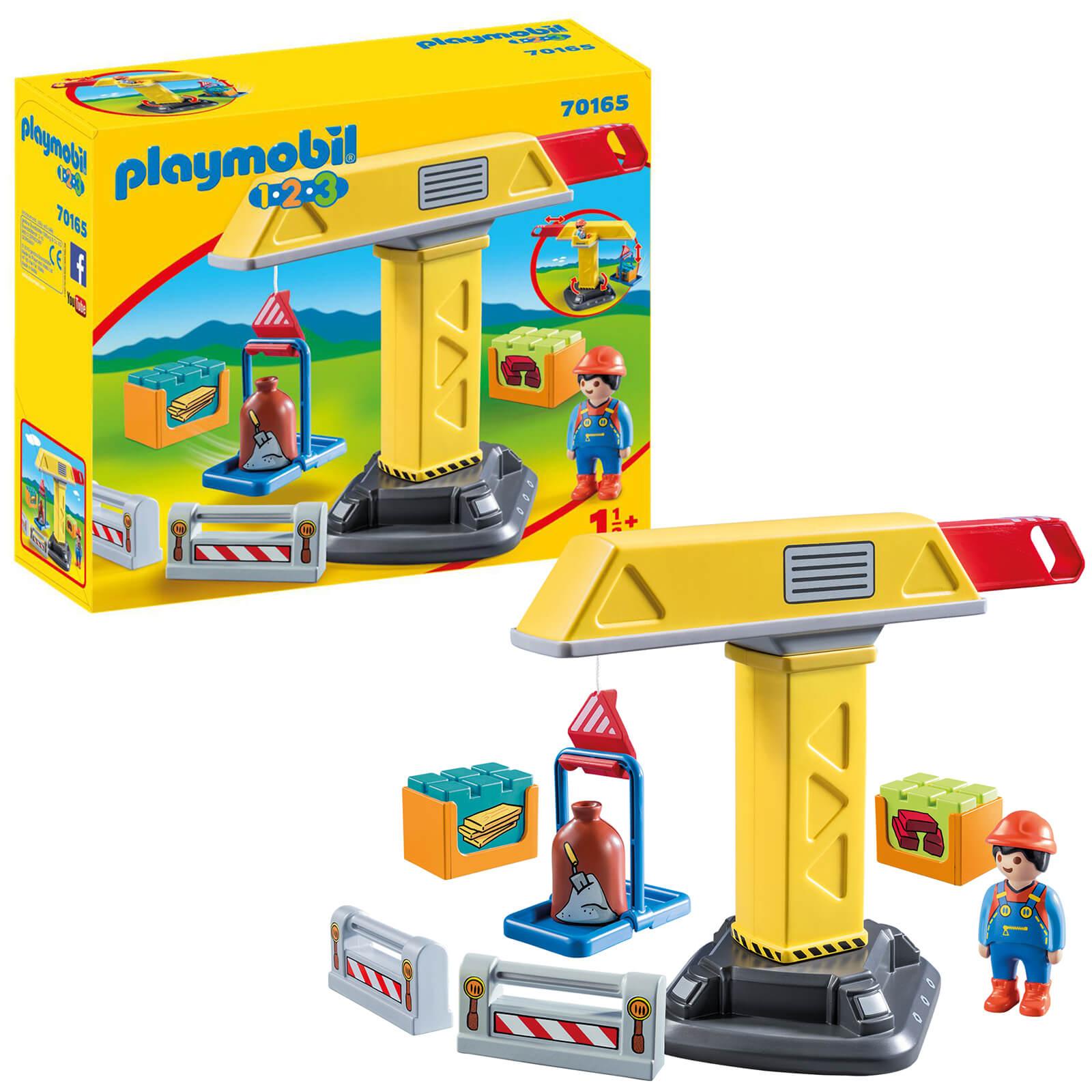 Playmobil 1.2.3 Construction Crane For Children 18 Months+ (70165)