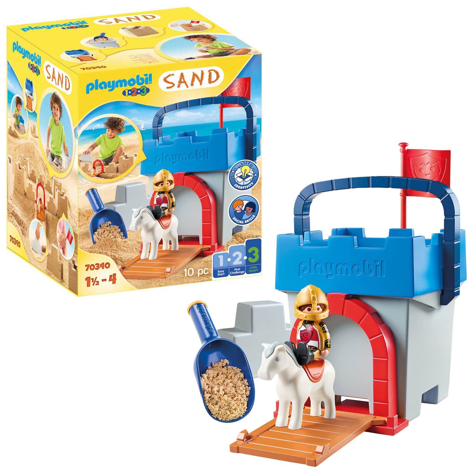Playmobil SAND Knights Castle Sand Bucket For 18+ Months (70340)