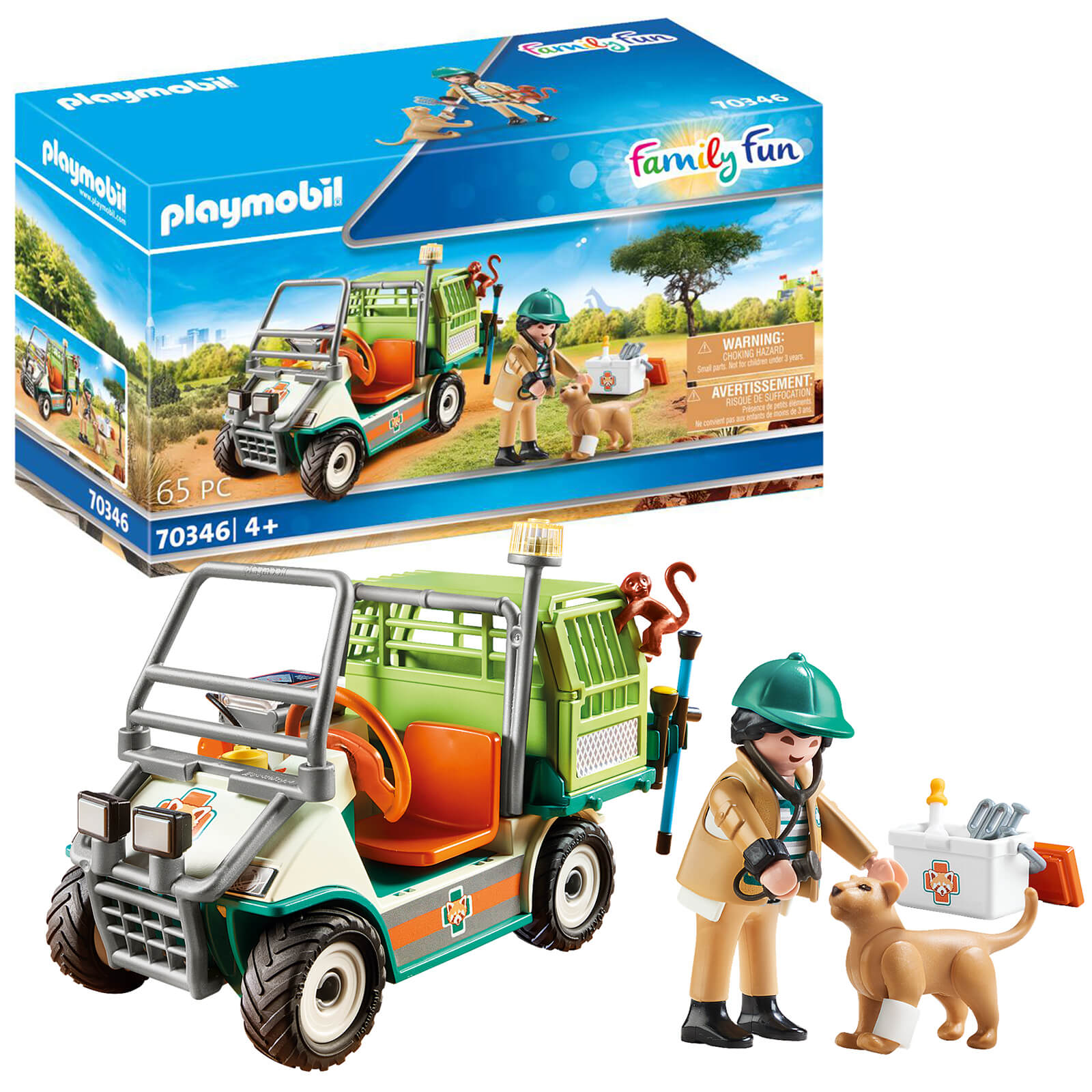 Playmobil Family Fun Zoo Vet With Medical Cart (70346)