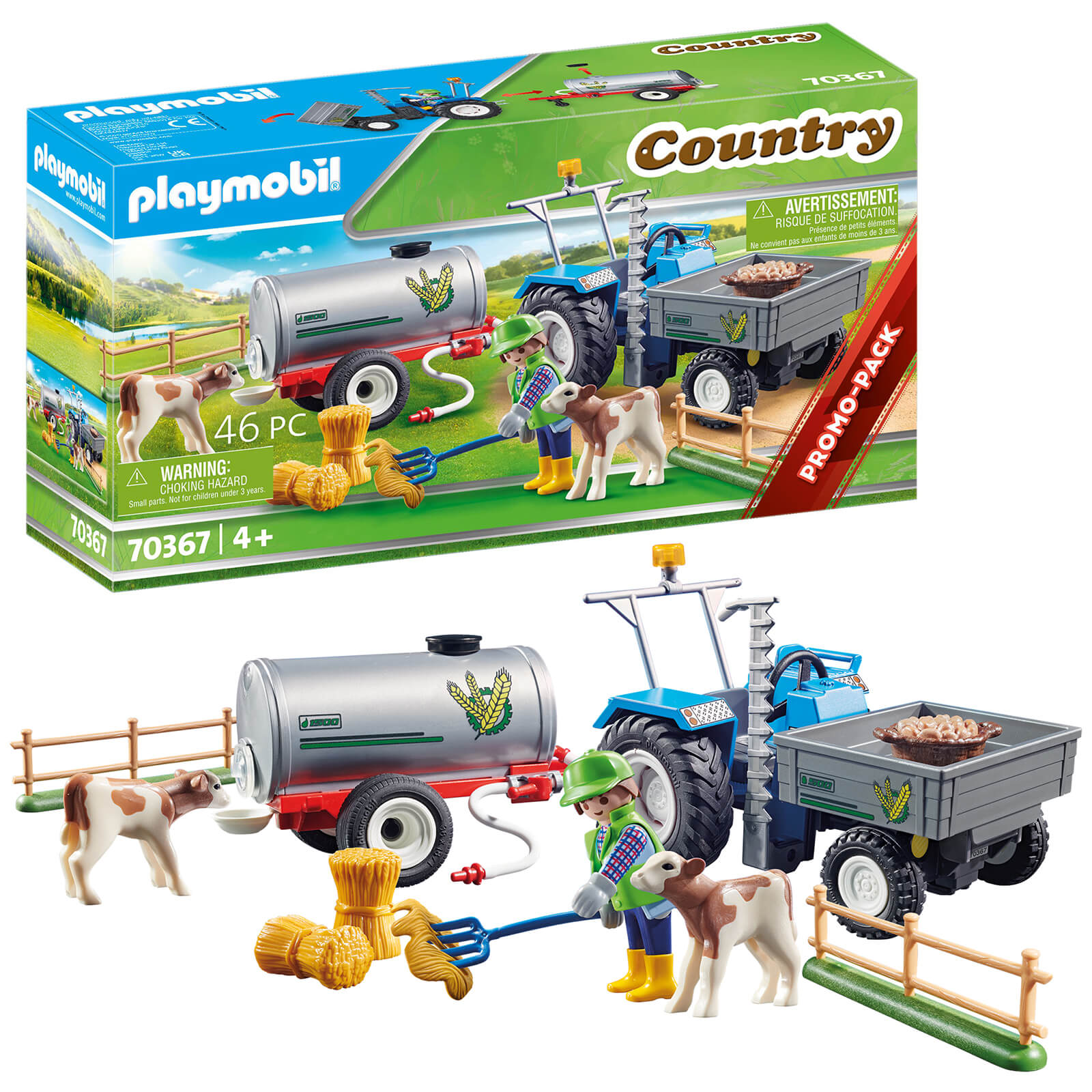 Playmobil Country Promo Loading Tractor With Water Tank (70367)