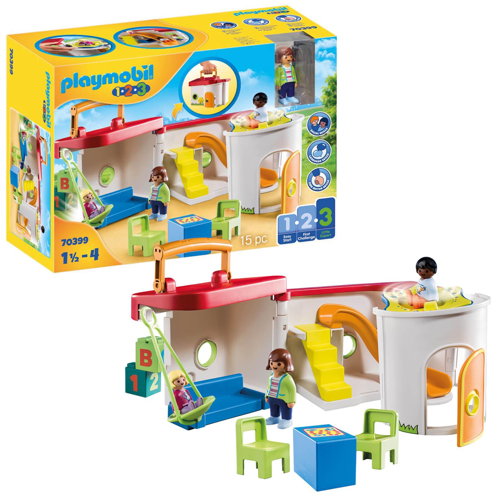 Playmobil 1.2.3 My Take Along Preschool For 18+ Months (70399)