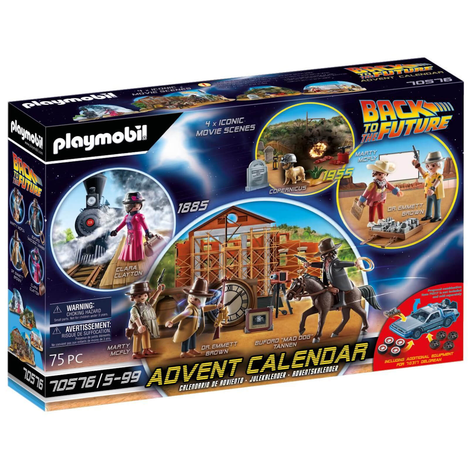 Playmobil Advent Calendar Back To The Future   Western (70576)