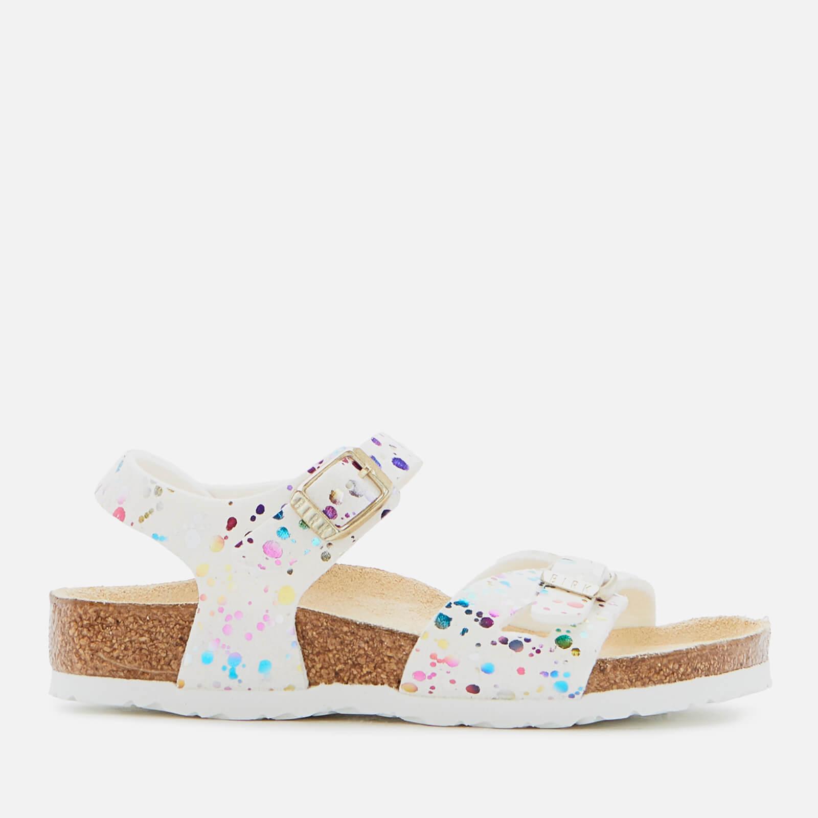 Birkenstock Rio Kids' Sandals - Confetti White - UK 9 Kids