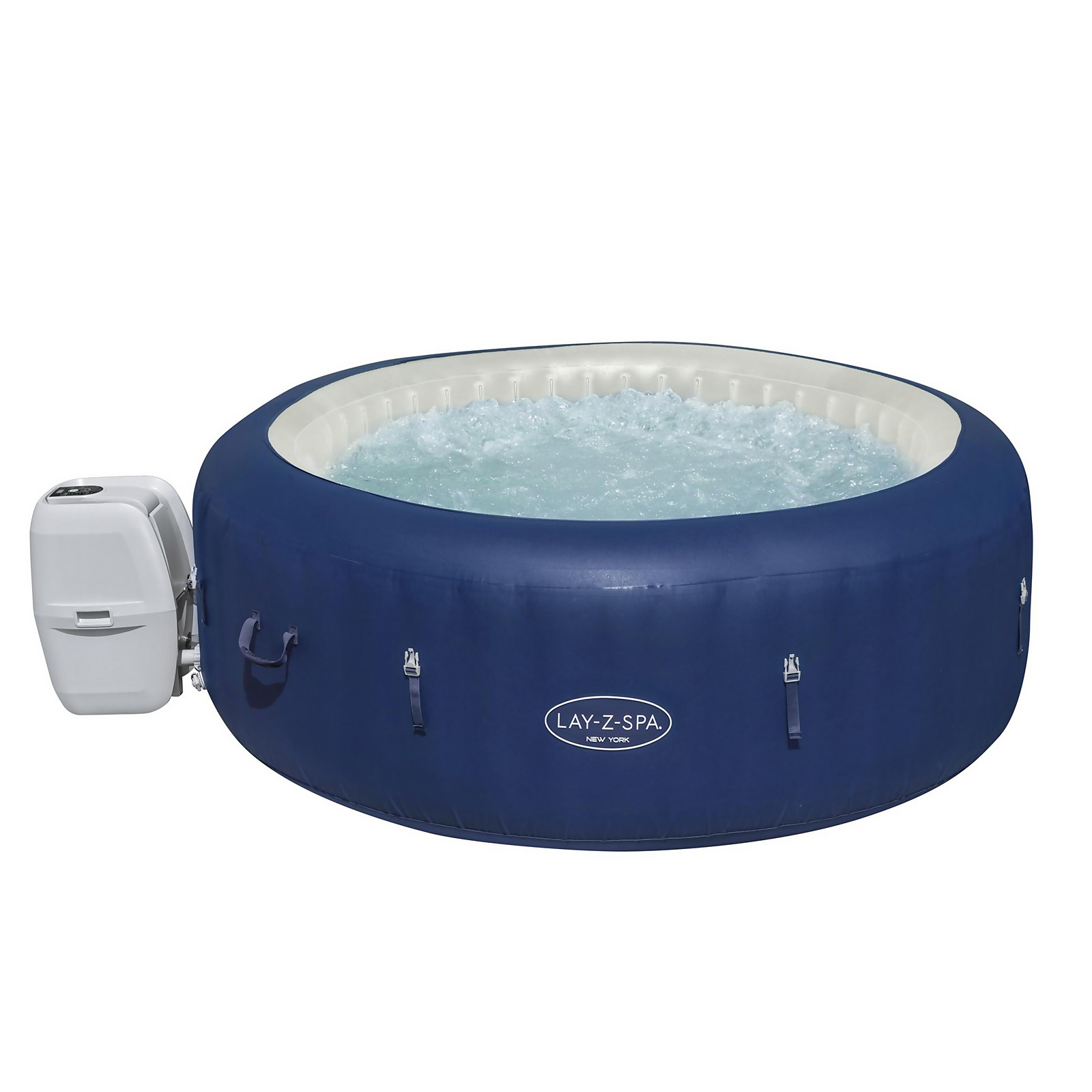New York Lay-Z-Spa Airjet 4-6 Person Hot Tub with FREE Cleaning Kit