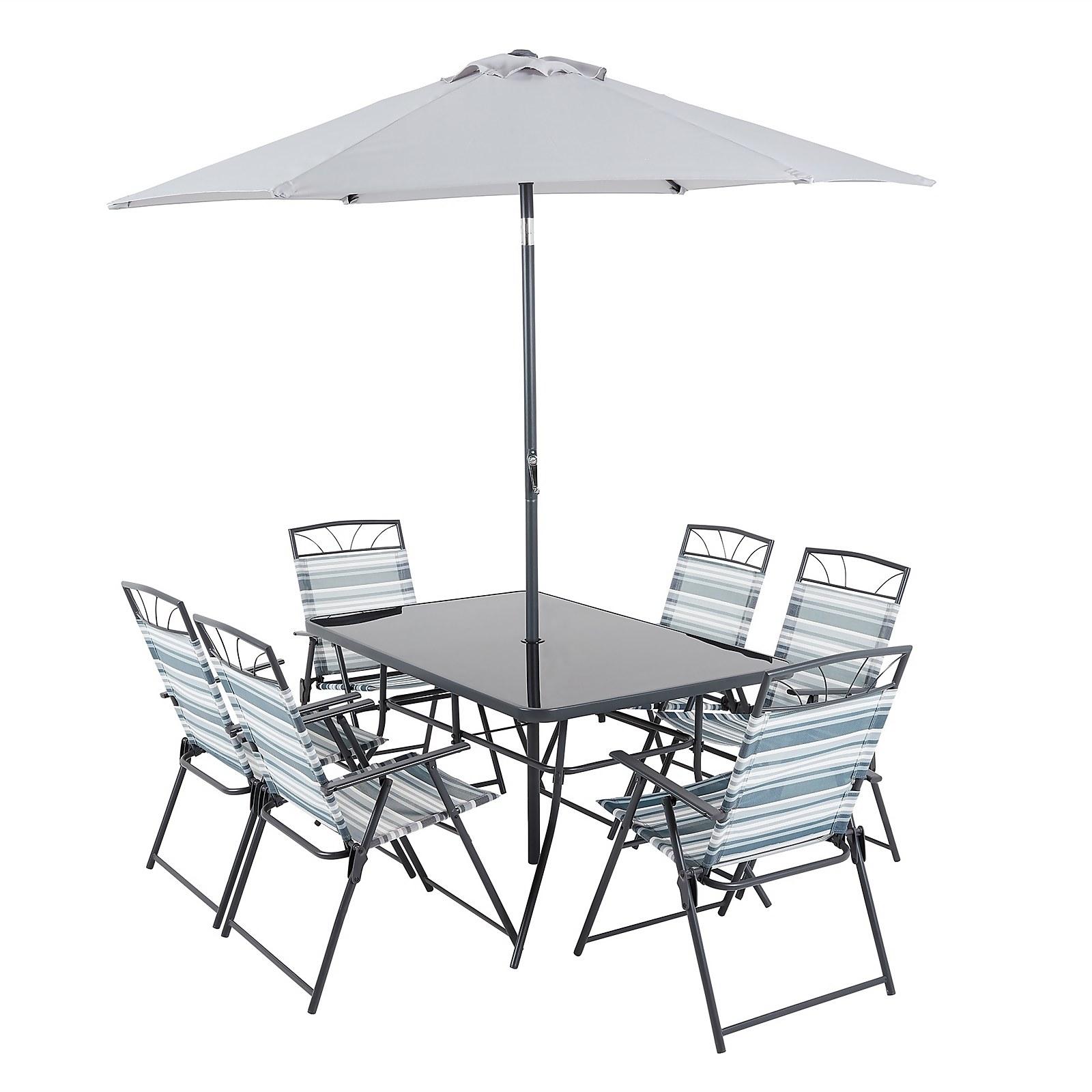 Wexfordly 6 Seater Metal Garden Furniture Dining Set