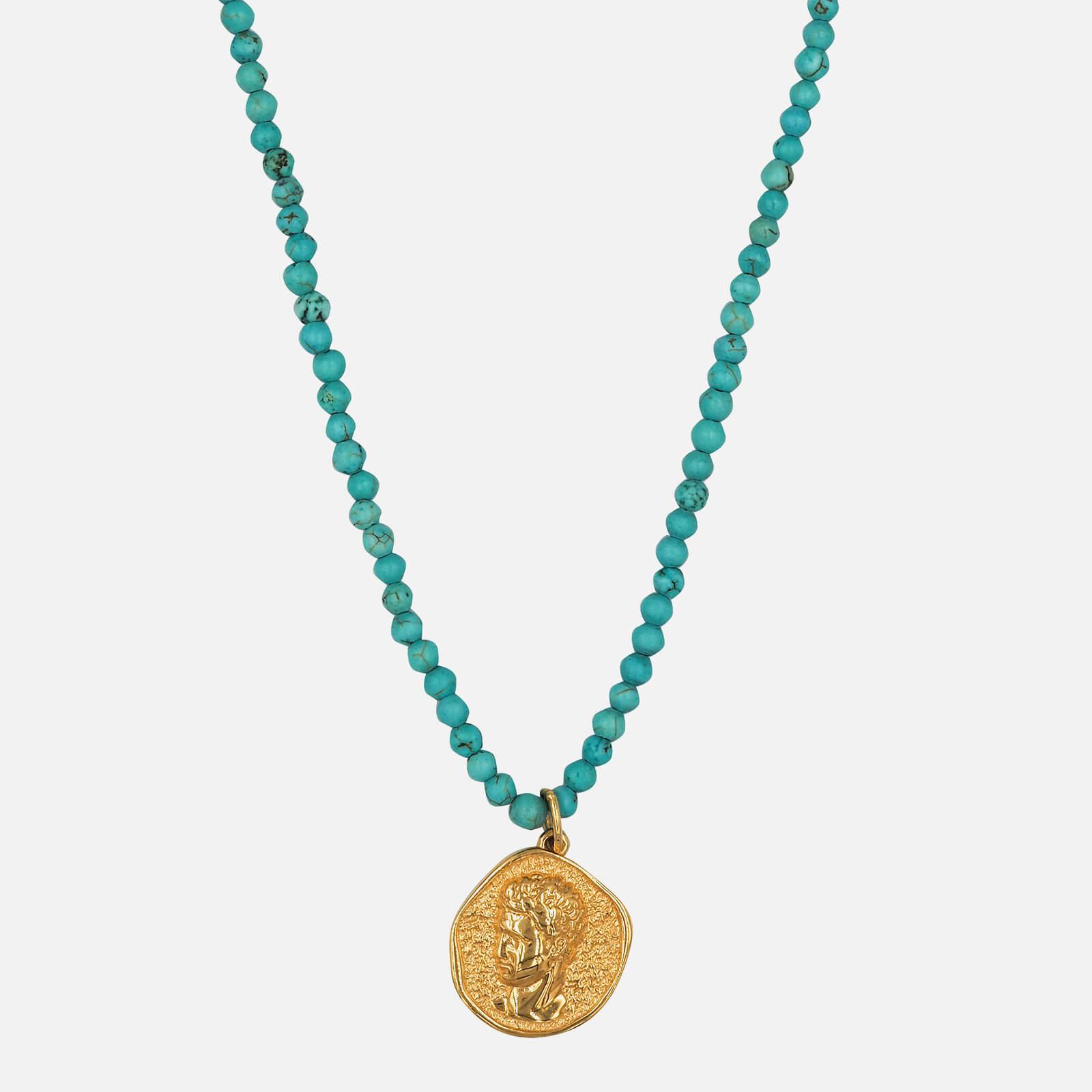 Hermina Athens Women's Hermis Necklace - Turquoise