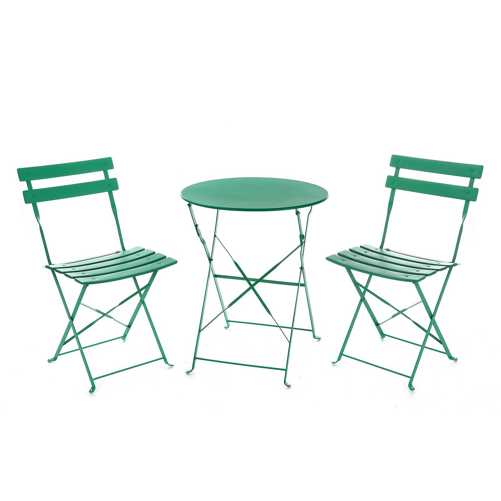 Lazio Metal Bistro Set - Green