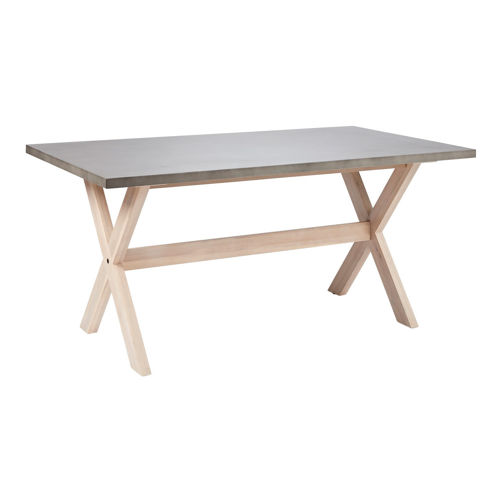 Carly Concrete 6 Seater Dining Table