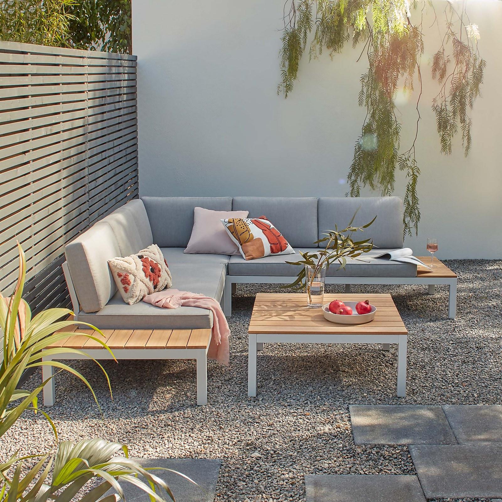 Spirit Garden Corner Sofa Set - Grey