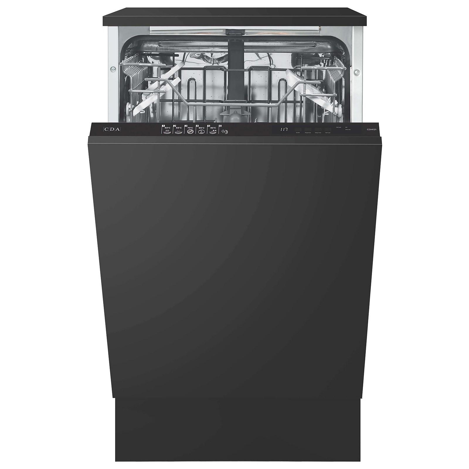 CDA CDI4121 Integrated Slimline Dishwasher - 45cm