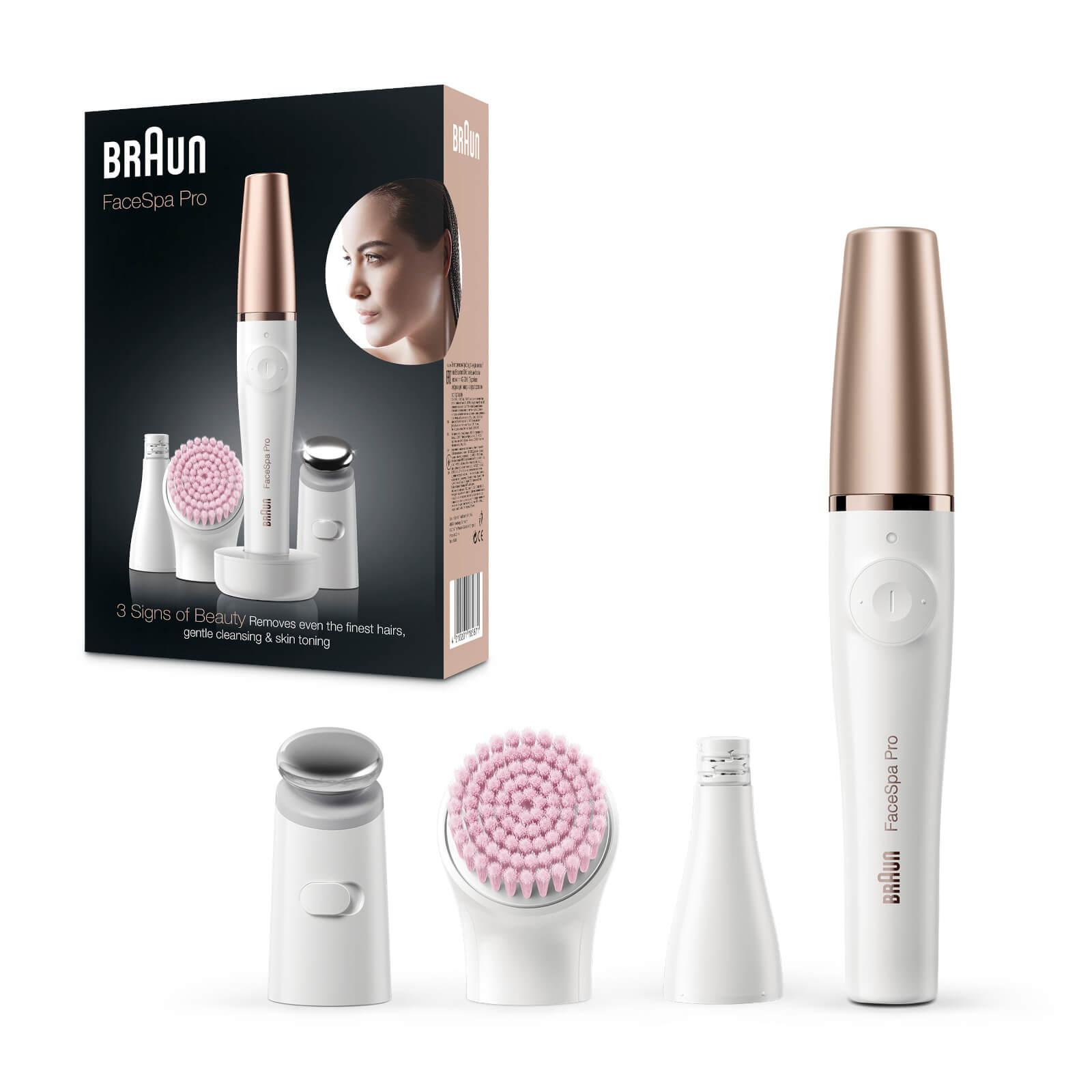 FaceSpa Pro Facial Epilator with 5 Extras incl. Sensitive Cleansing Brush, Bronze