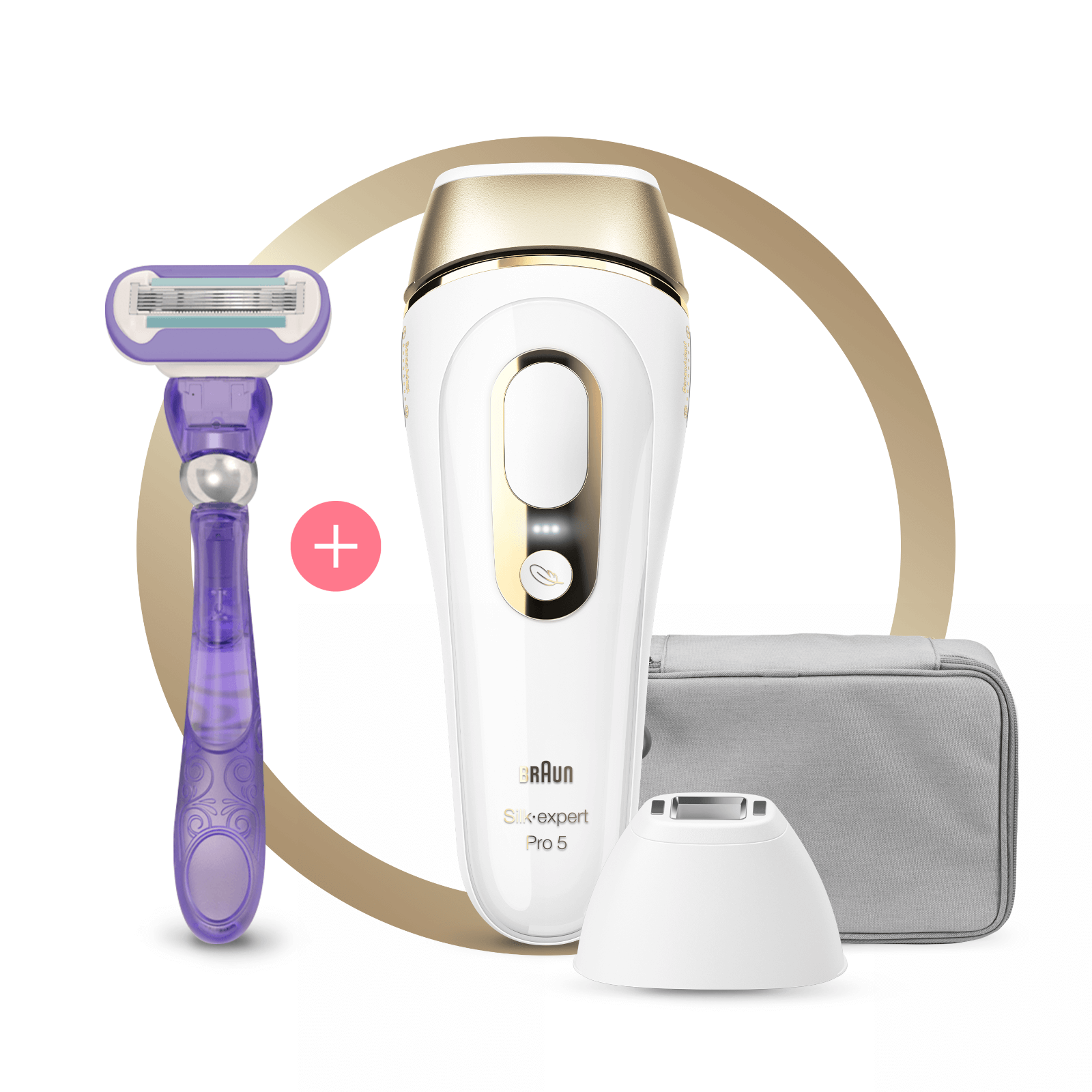 Silk-expert Pro 5 IPL with Precision Head, Razor and Pouch
