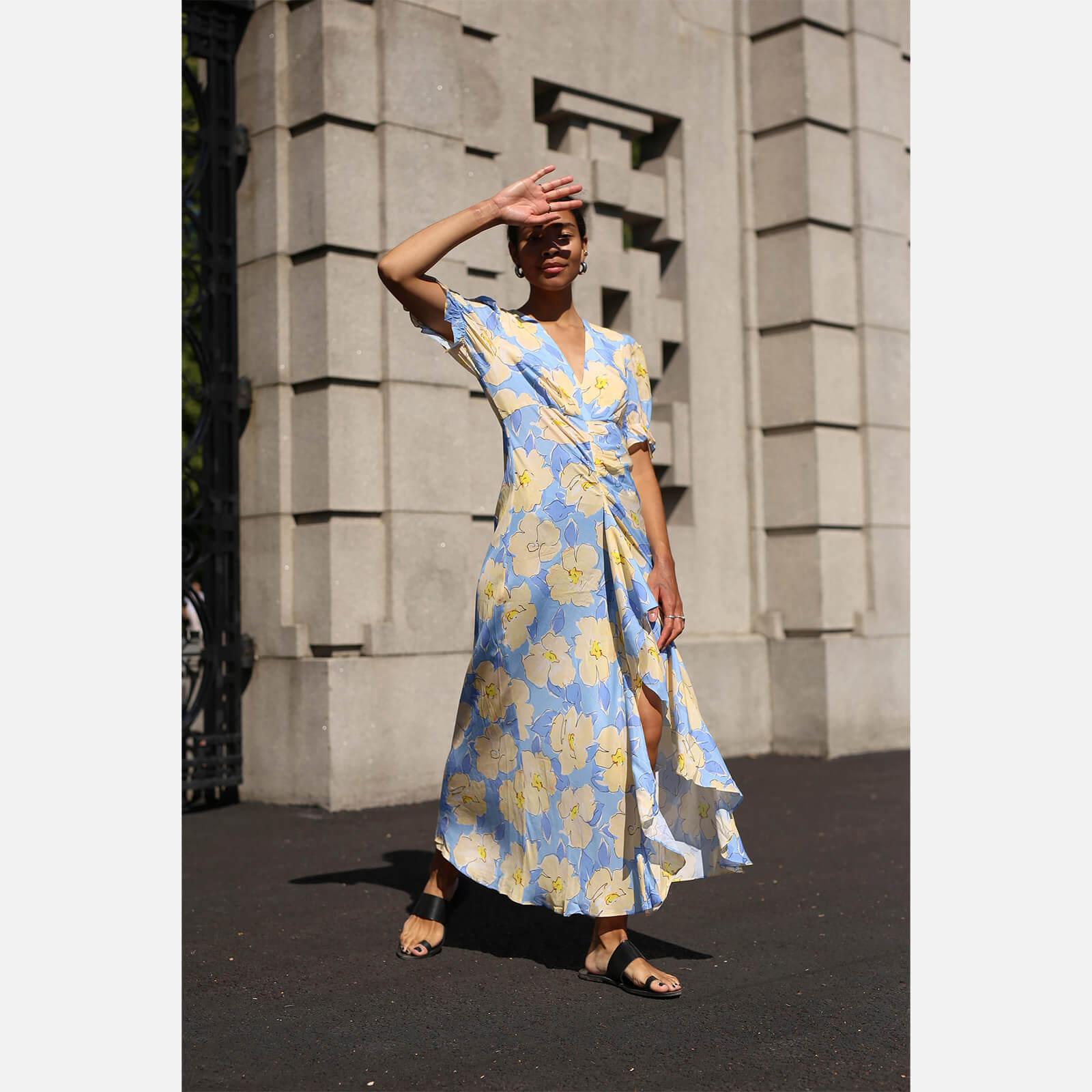RIXO Women's Ariel Dress - Azela Bloom - Lilac Yellow - XS