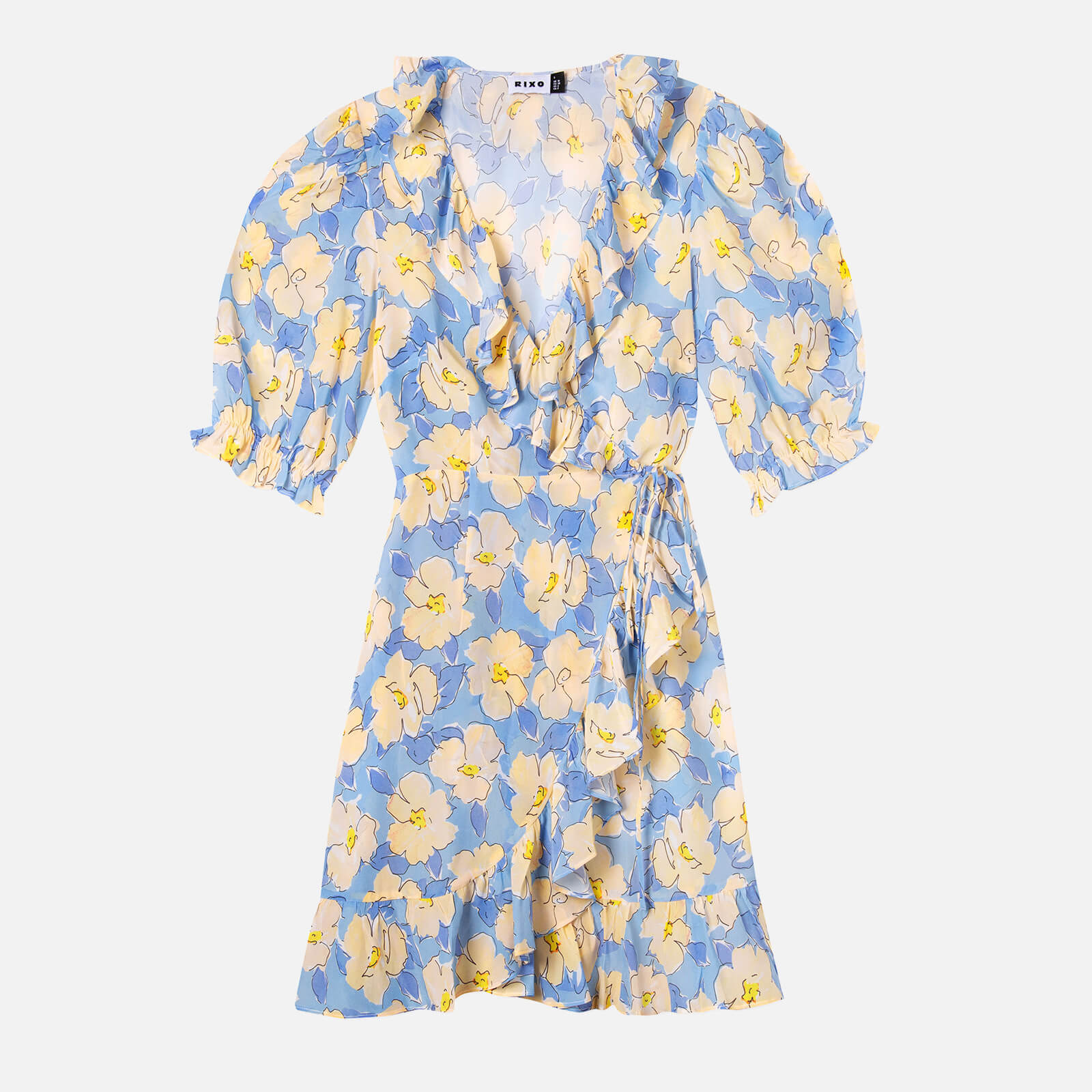RIXO Women's Nina Dress - Azela Bloom - Lilac Yellow - XS