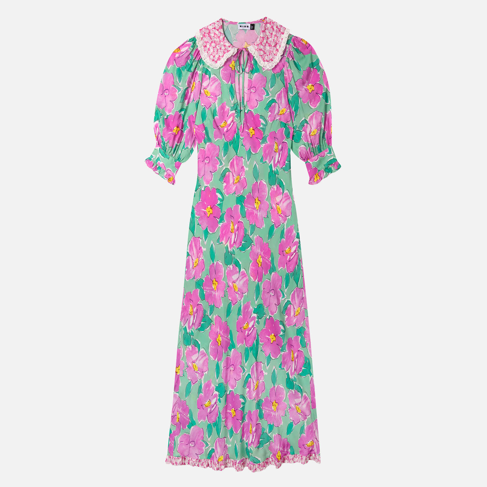 RIXO Women's Lauren Dress - Azalea Bloom Pink - XS