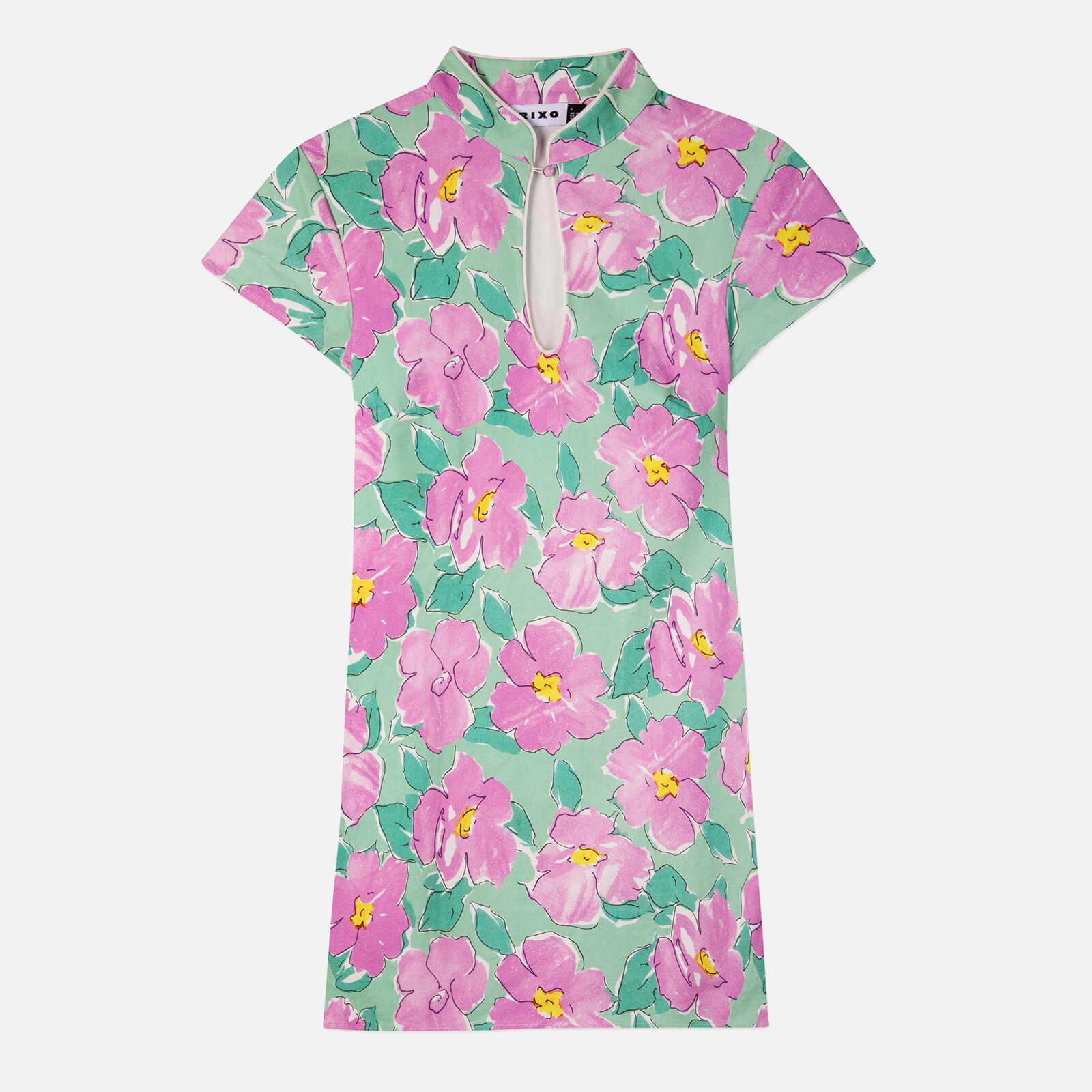 RIXO Women's Lolita Dress - Azalea Bloom Pink - XS