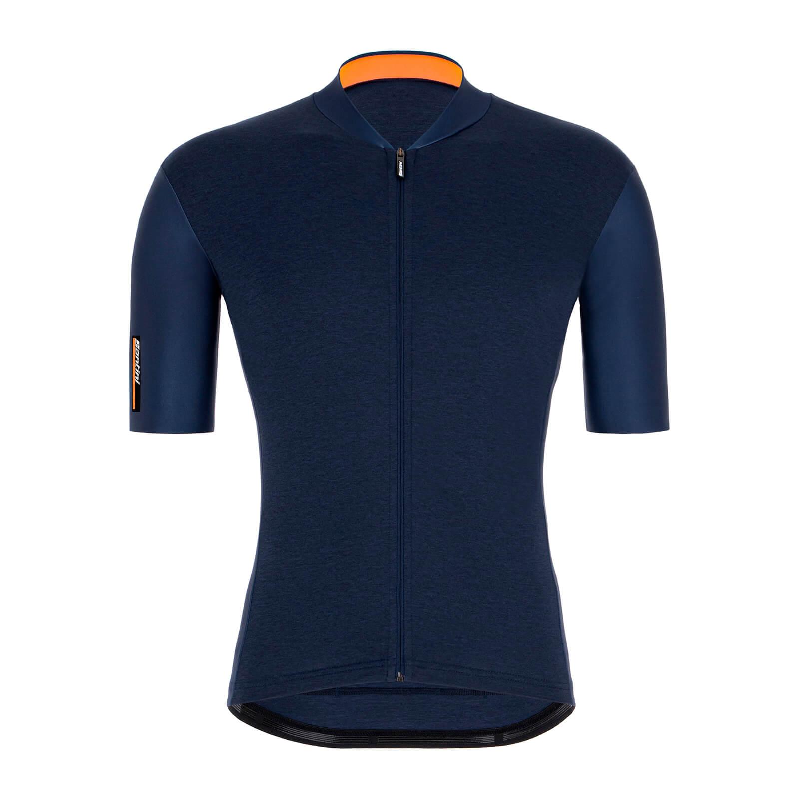 Santini Colore Jersey - S - Nautica Blue