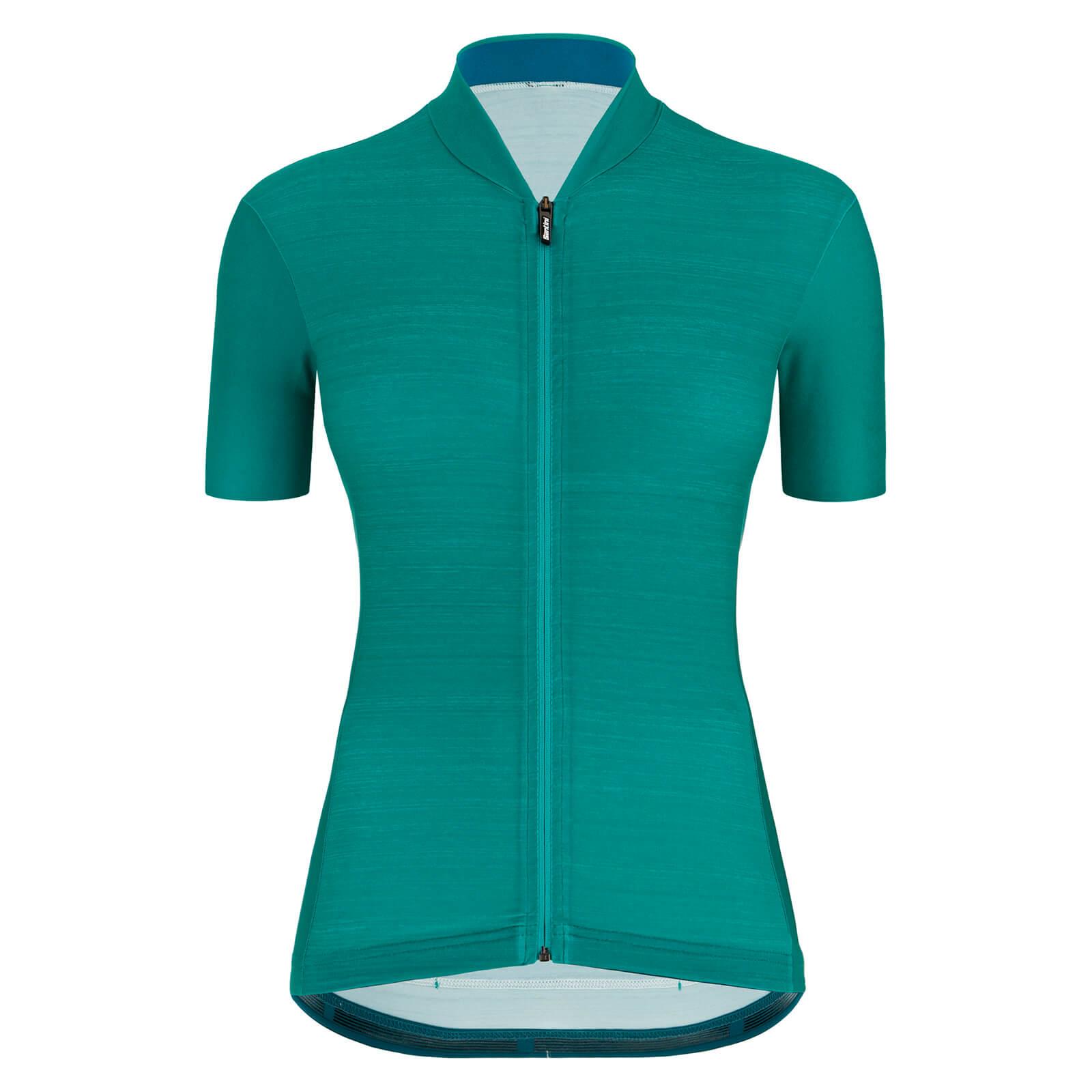 Santini Women's Colore Jersey - M - Petrol Green