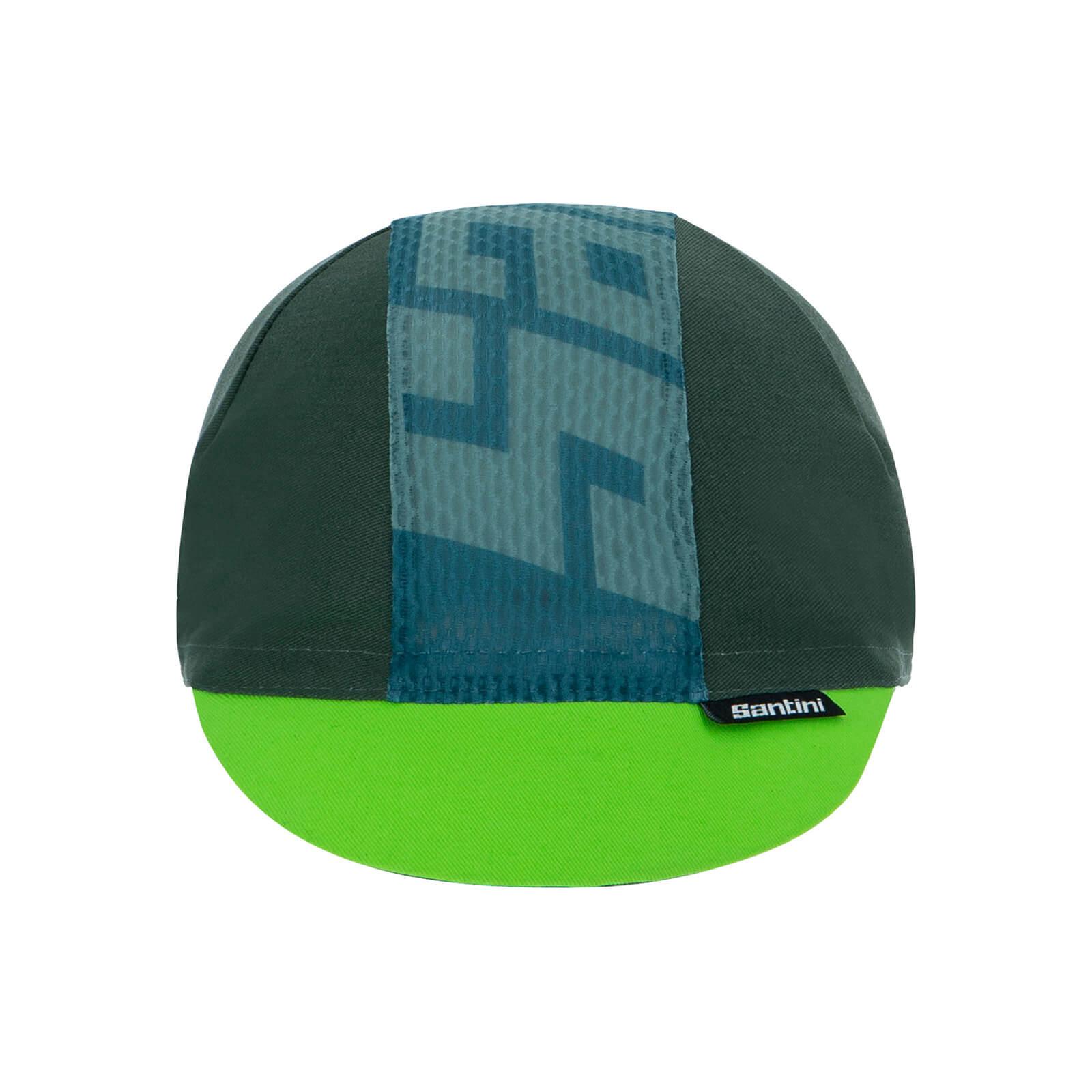 Santini Colore Cotton Cycling Cap - Military Green