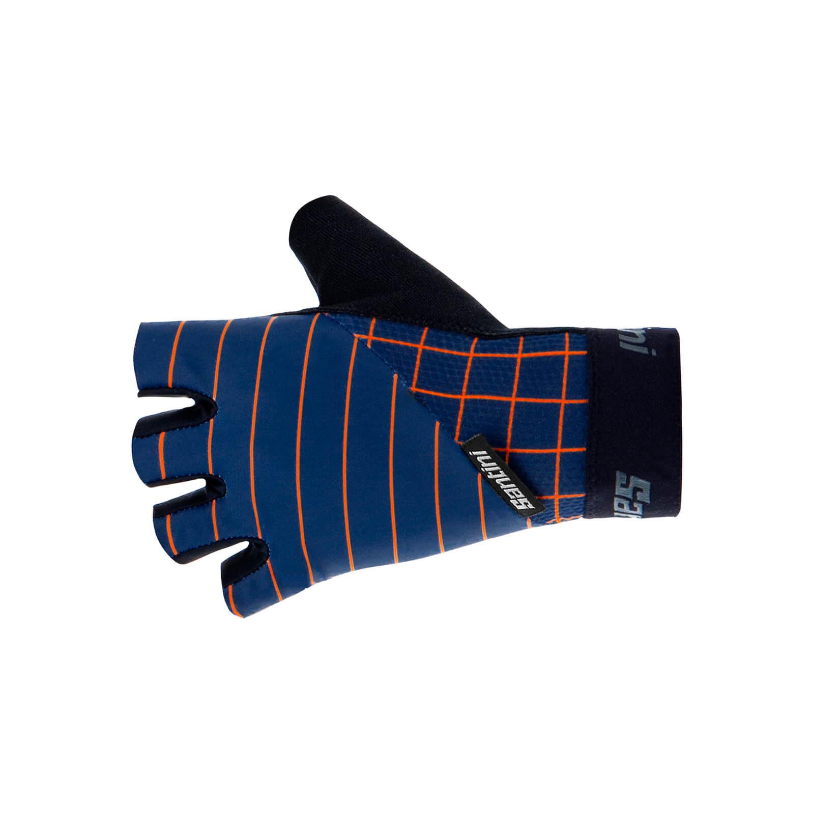 Santini Dinamo Gel Gloves - L - Nautica Blue