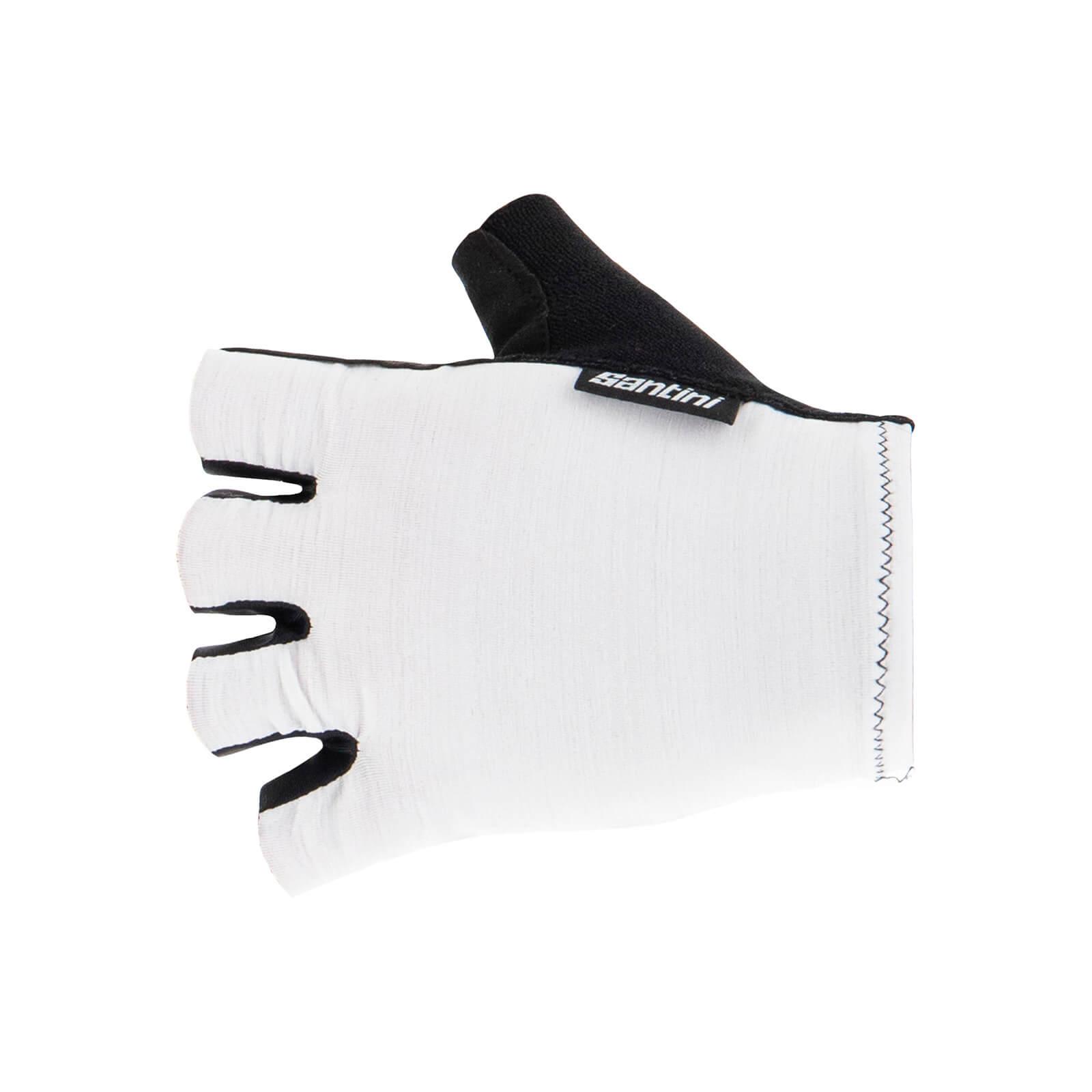 Santini Cubo Gloves - M - Weiß