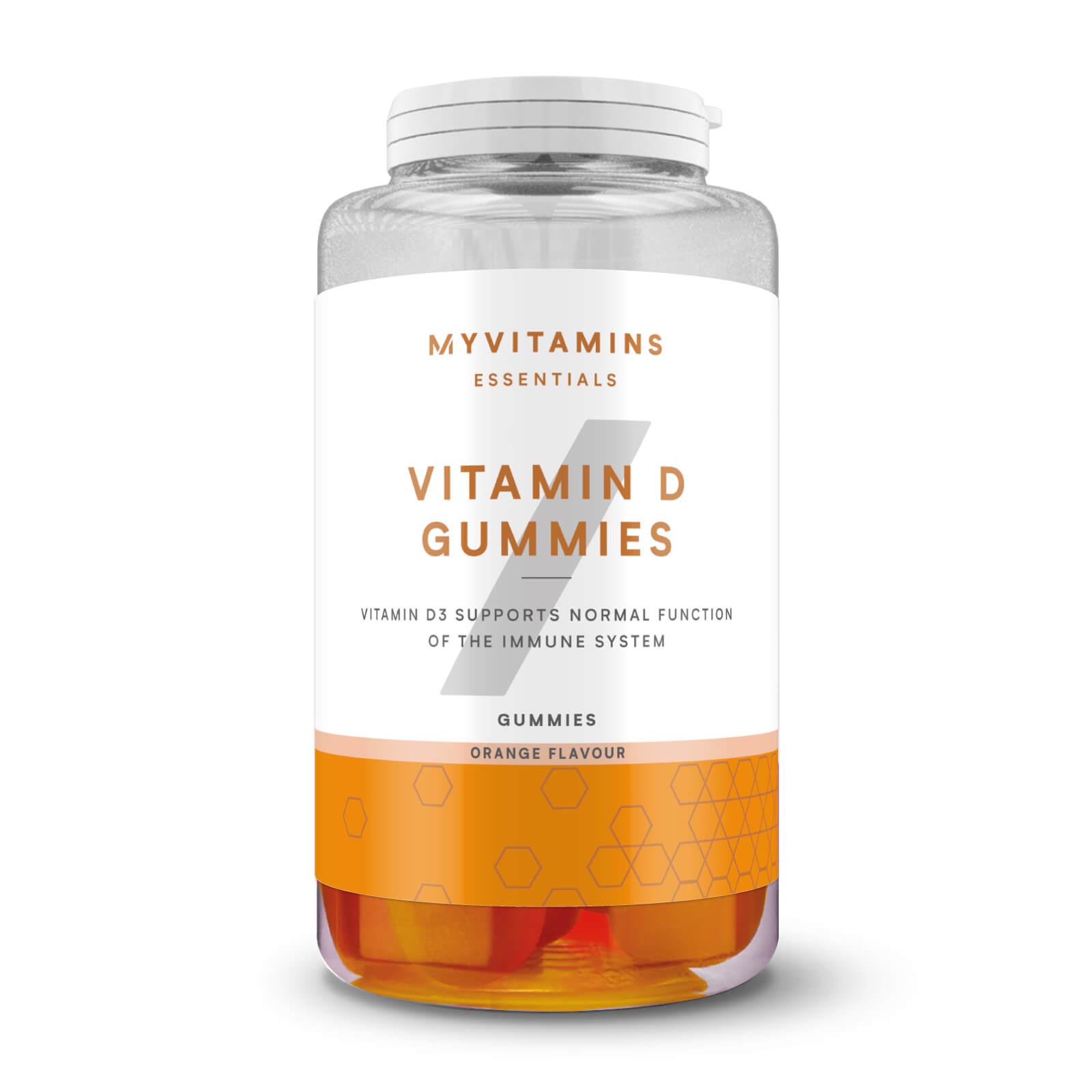 Купить Жевательный мармелад с витамином D - 60желатиновых капсул - Апельсин, Myprotein International