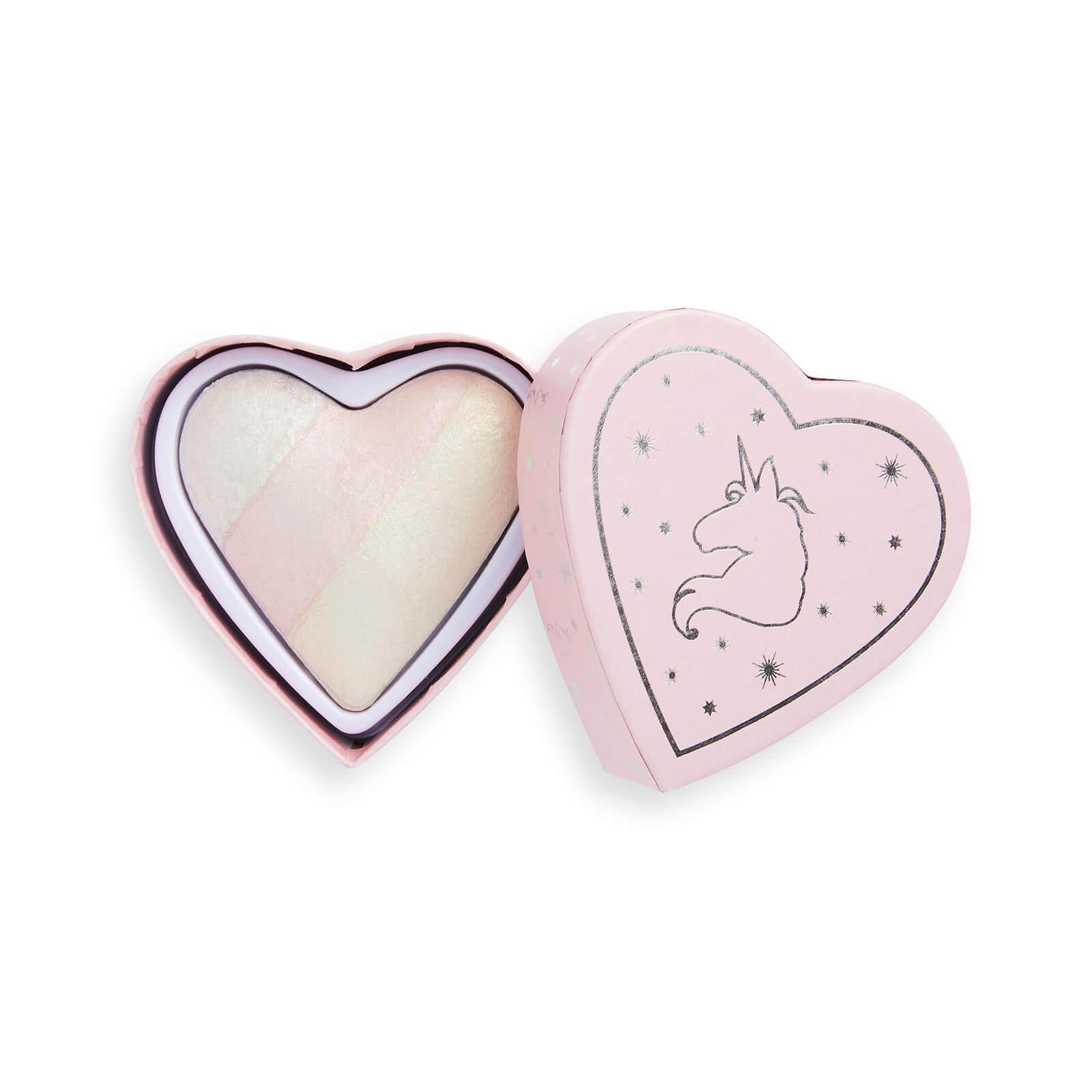 Купить Хайлайтер для лица Revolution Beauty I Heart Revolution Unicorn Heart Glow Heart Хайлайтер с сердечками
