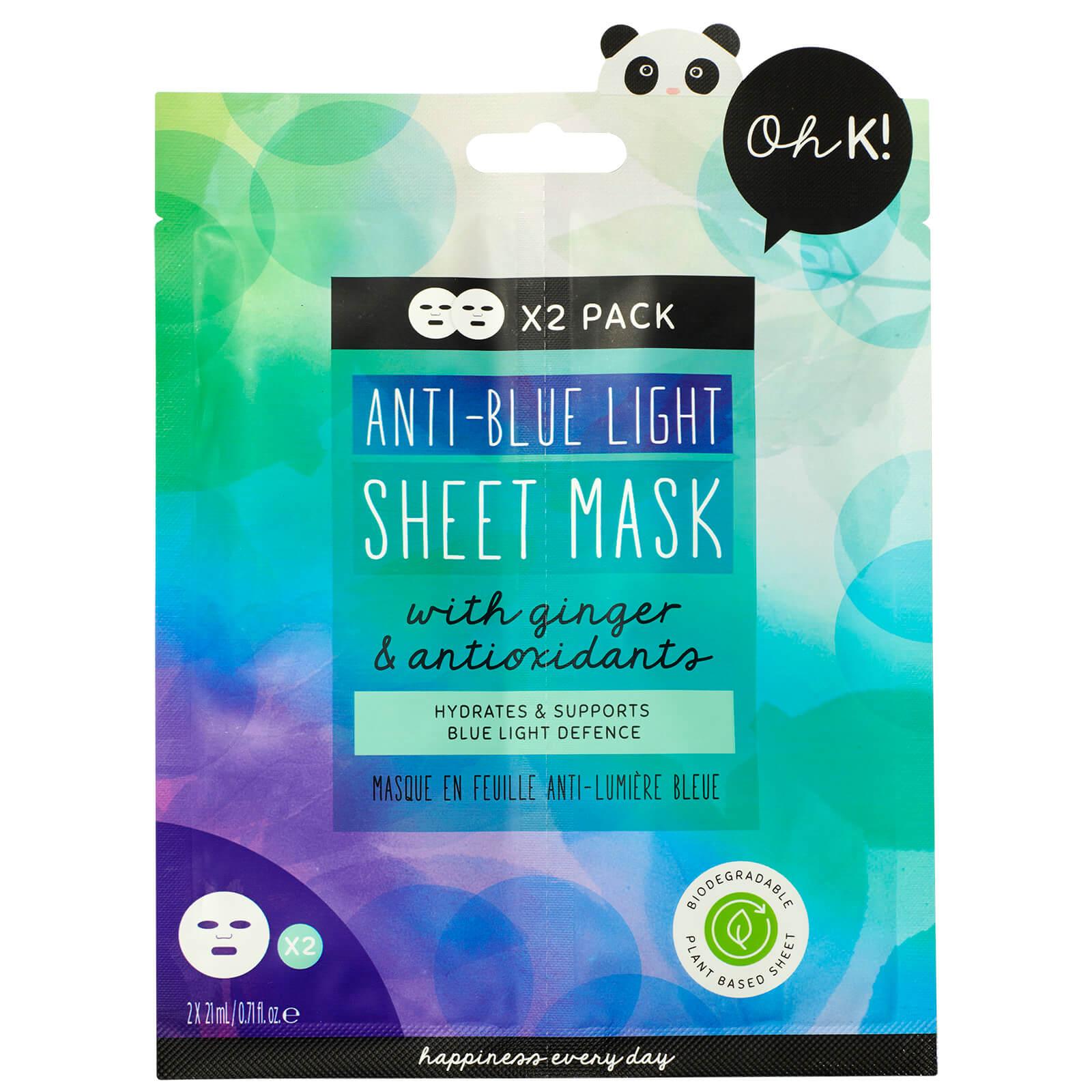 oh k! anti blue light sheet mask duo 42ml