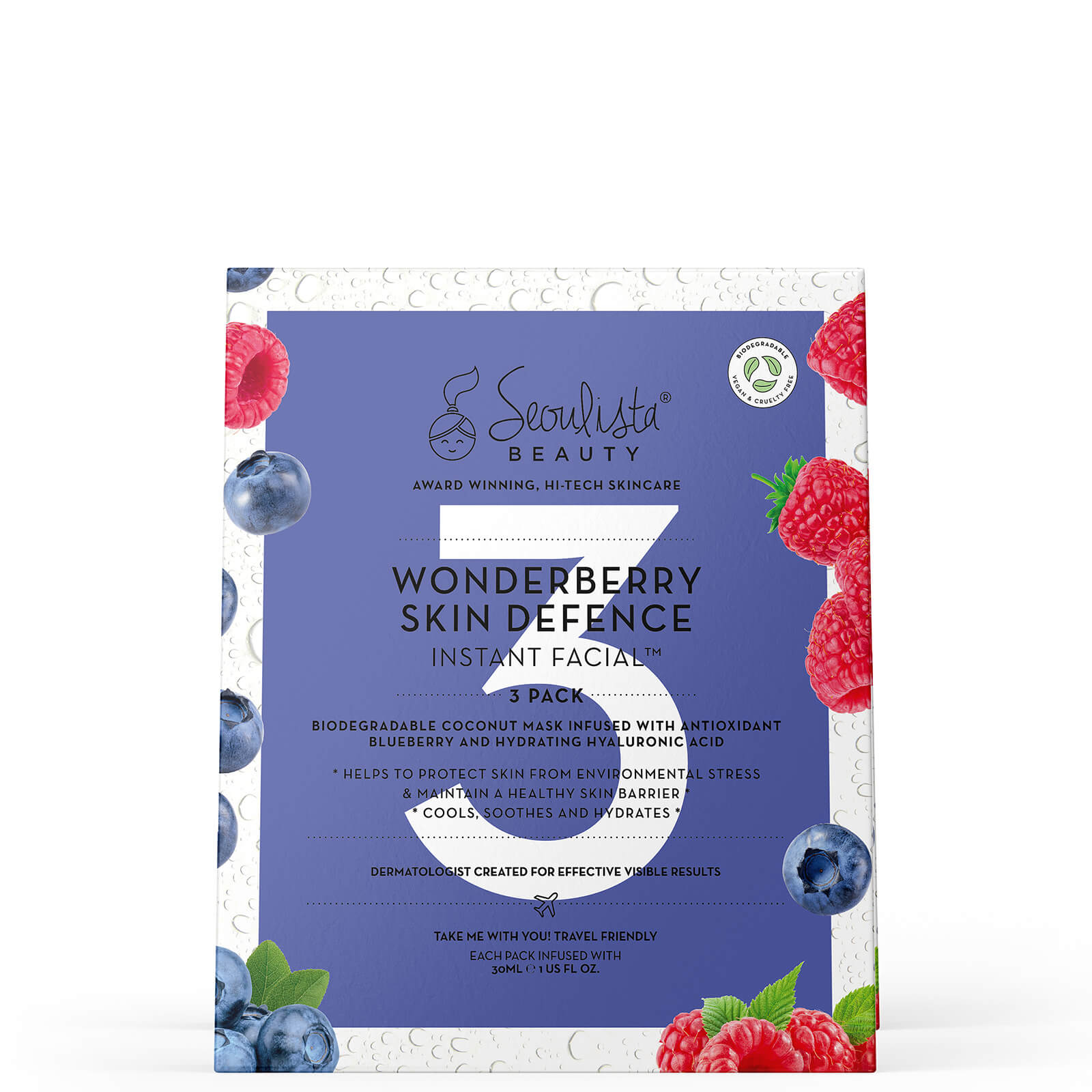 Купить Seoulista Beauty Wonderberry Instant Facial Pack (Pack of 3)