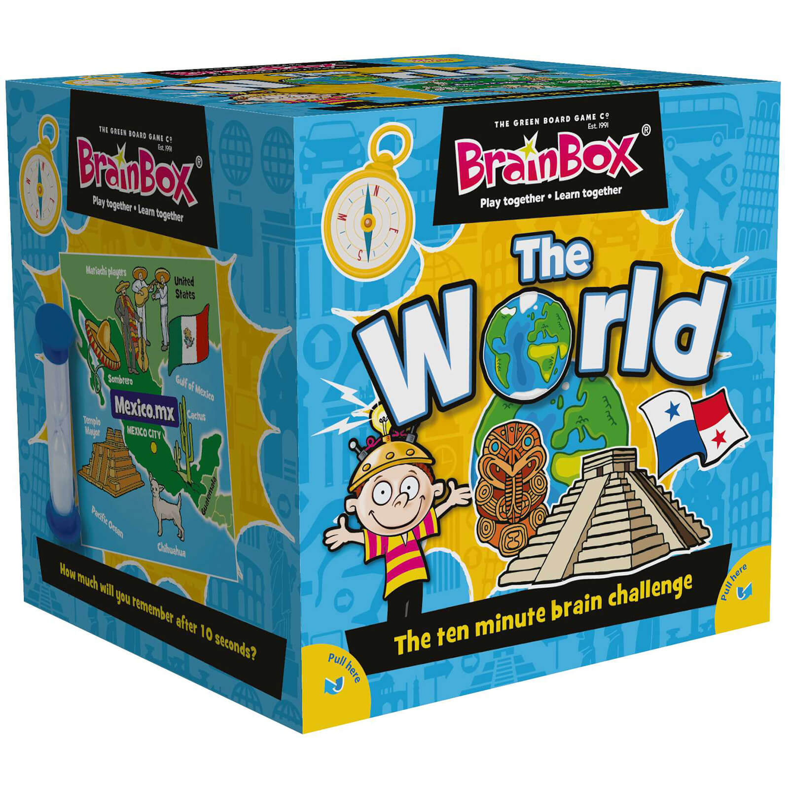 BrainBox Card Game - The World Edition Refresh (72 Cards)