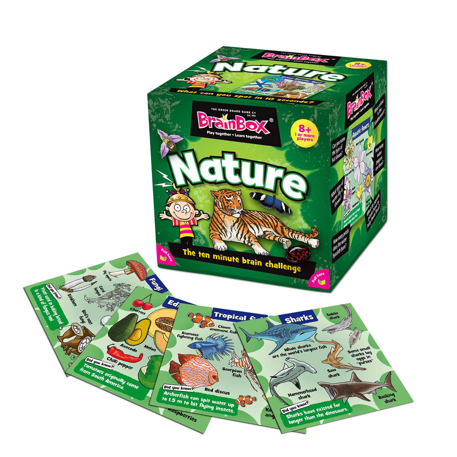 BrainBox Card Game - Nature Edition (55 Cards)