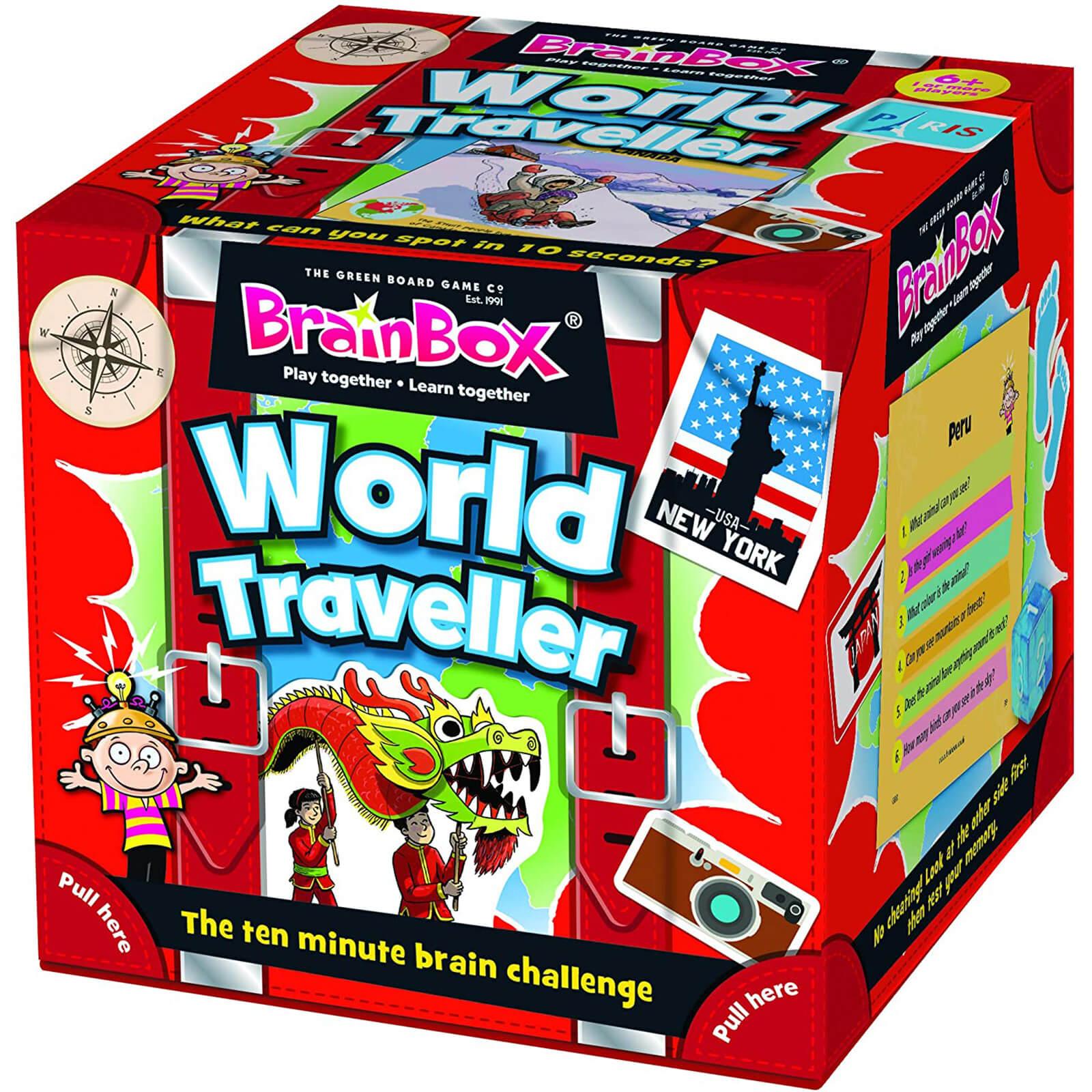 BrainBox Card Game - World Traveller Edition (55 cards)