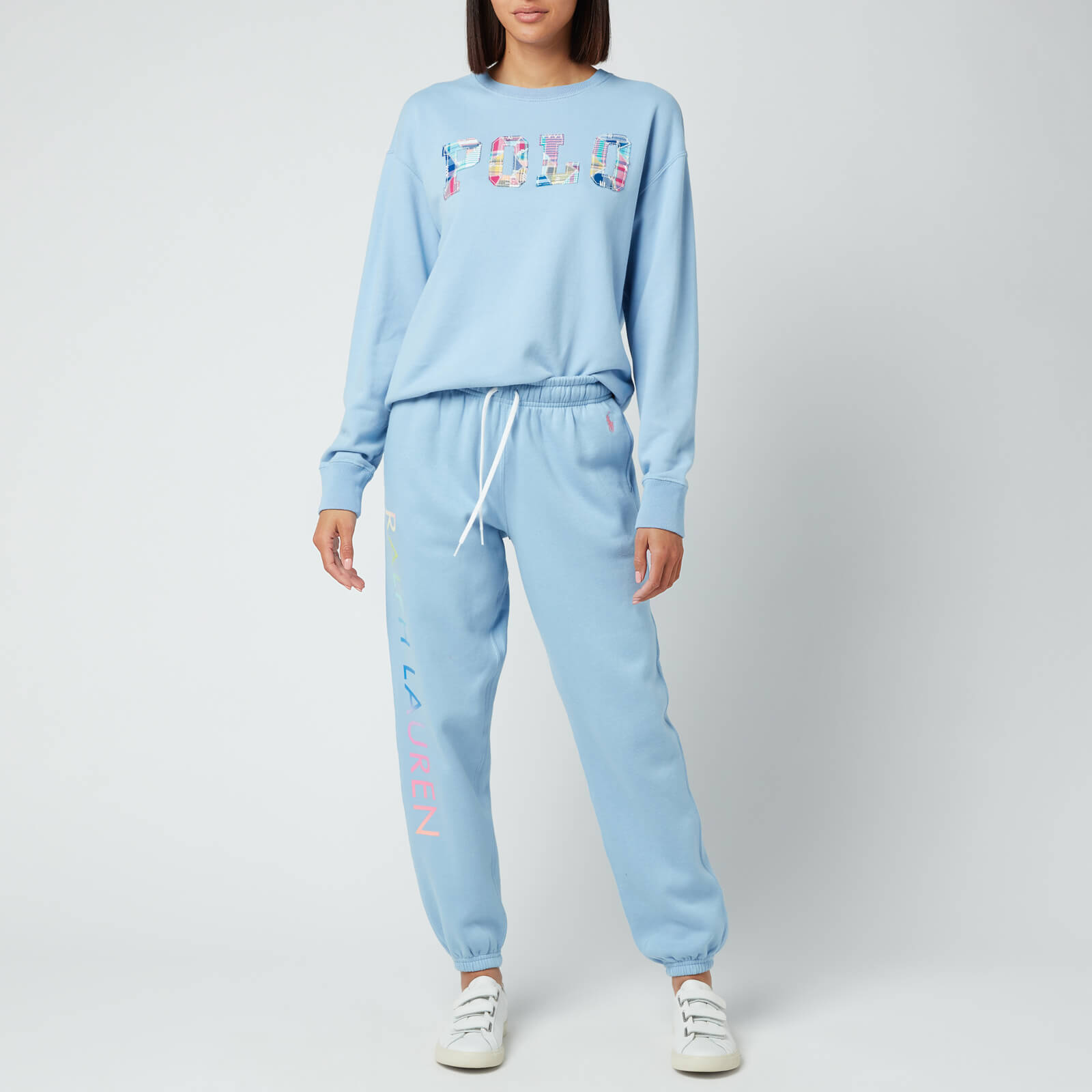 polo ralph lauren women's logo sweatpants - chambray blue - xs