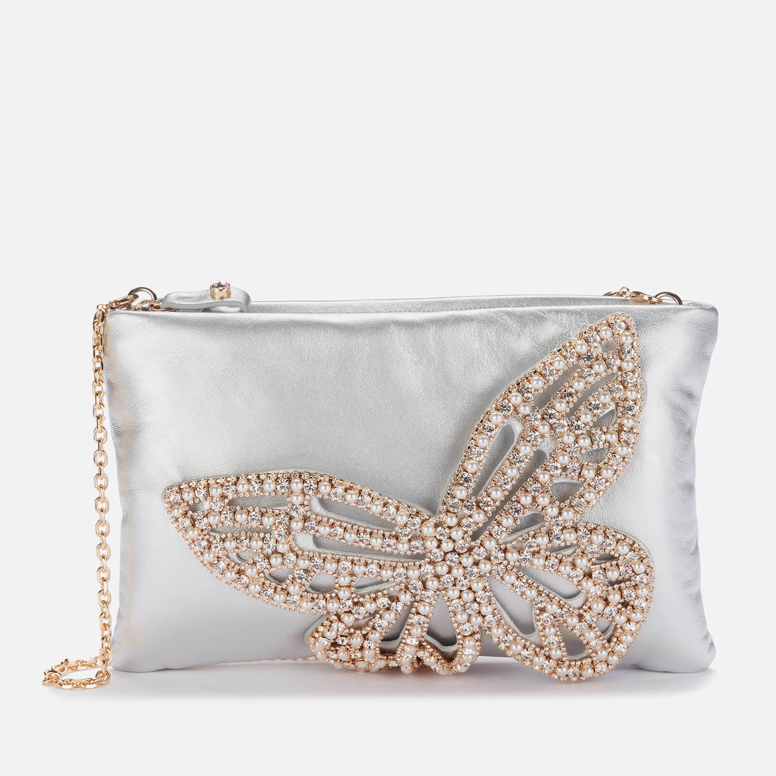 Sophia Webster Women's Flossy Crystal Clutch - Silver & Pearl