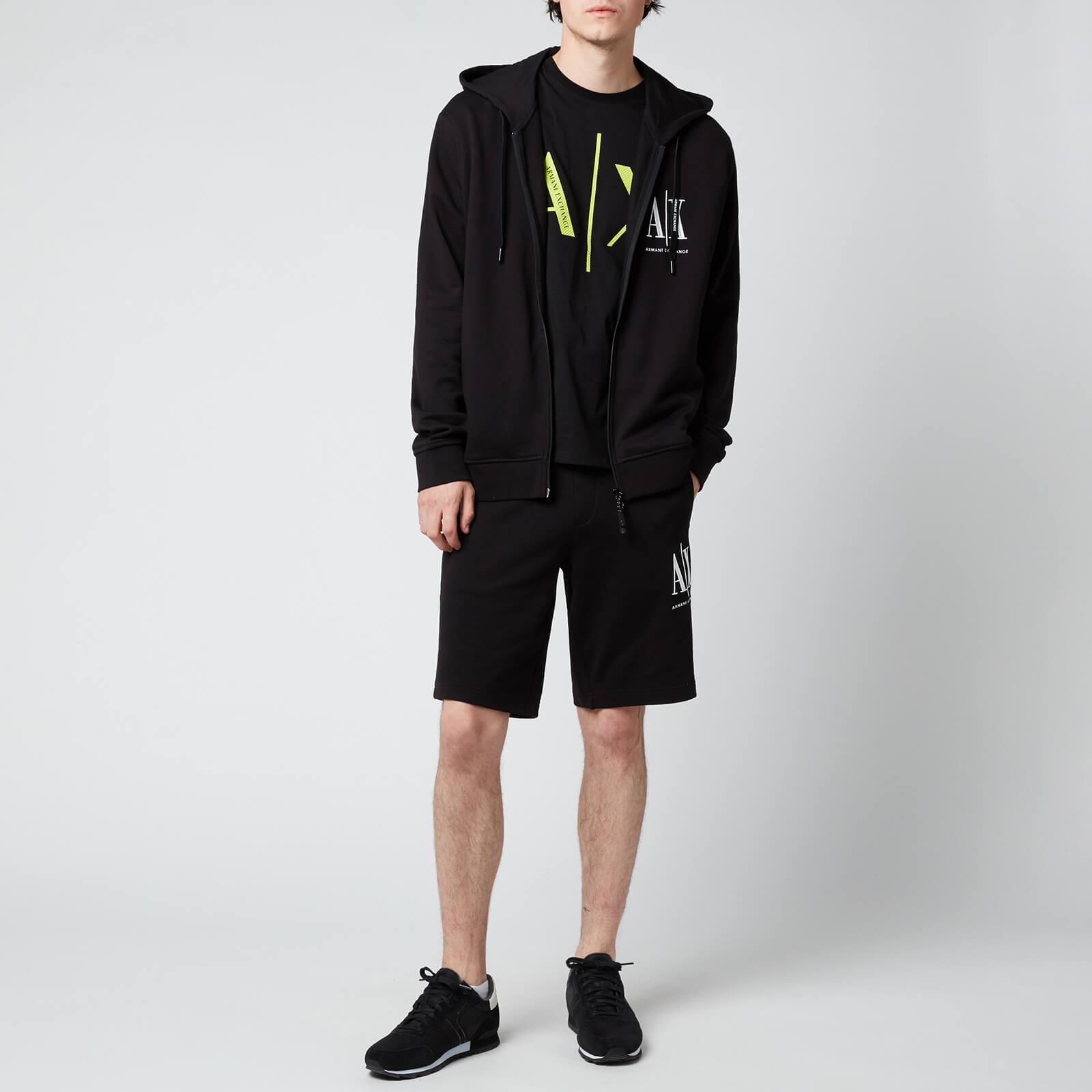 Armani Exchange Men's Ax Logo Zip Hoodie - Black - S