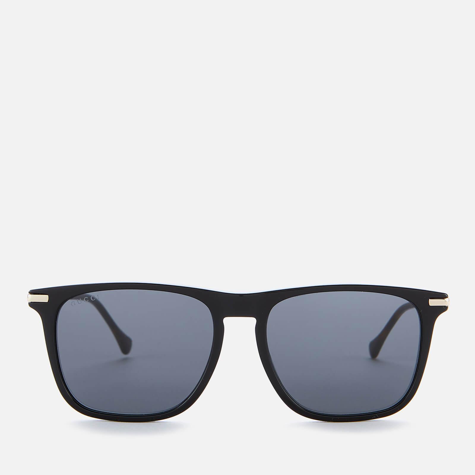 Gucci Men's Metal Sunglasses - Black/Gold/Grey