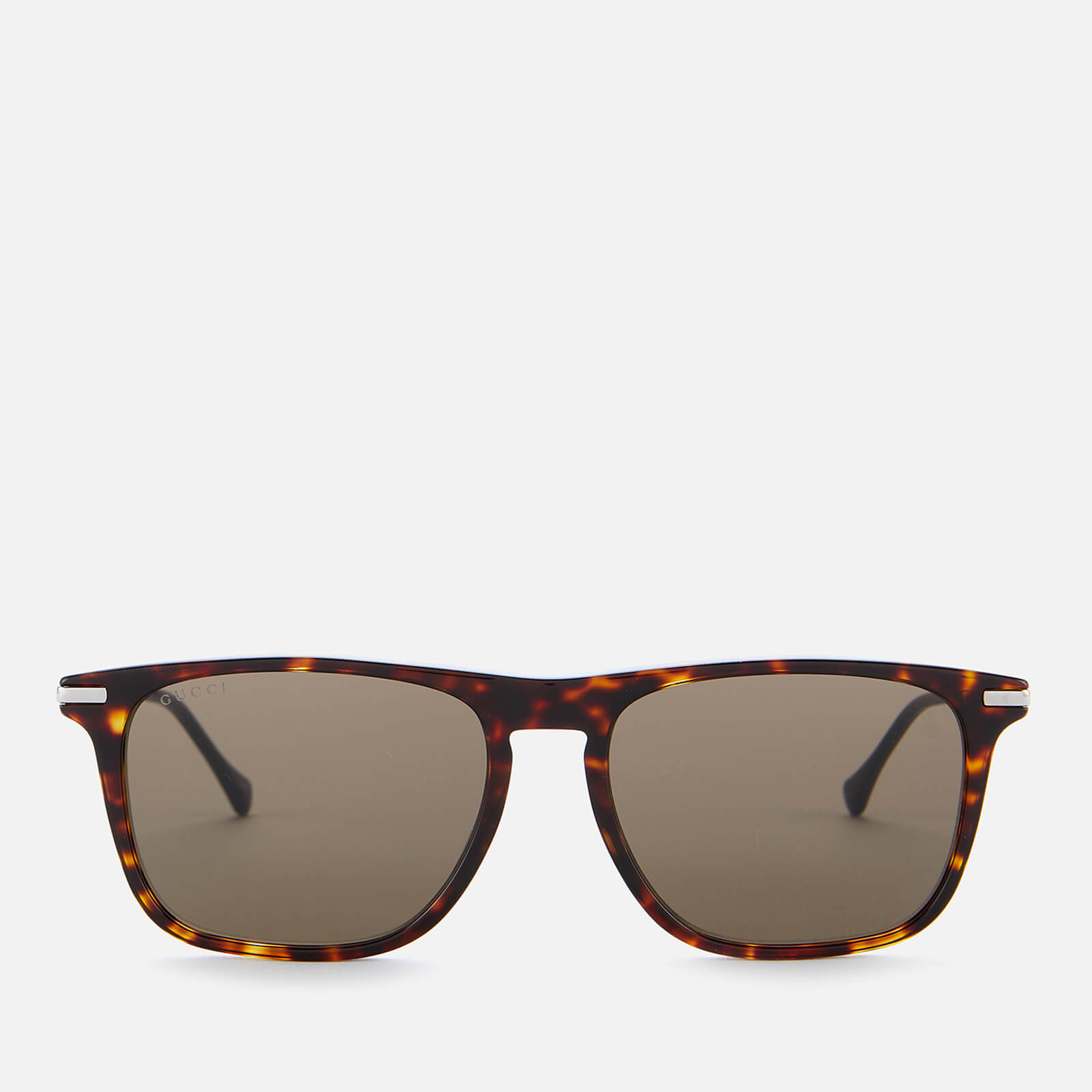 Gucci Men's Metal Sunglasses - Havana/Silver/Brown