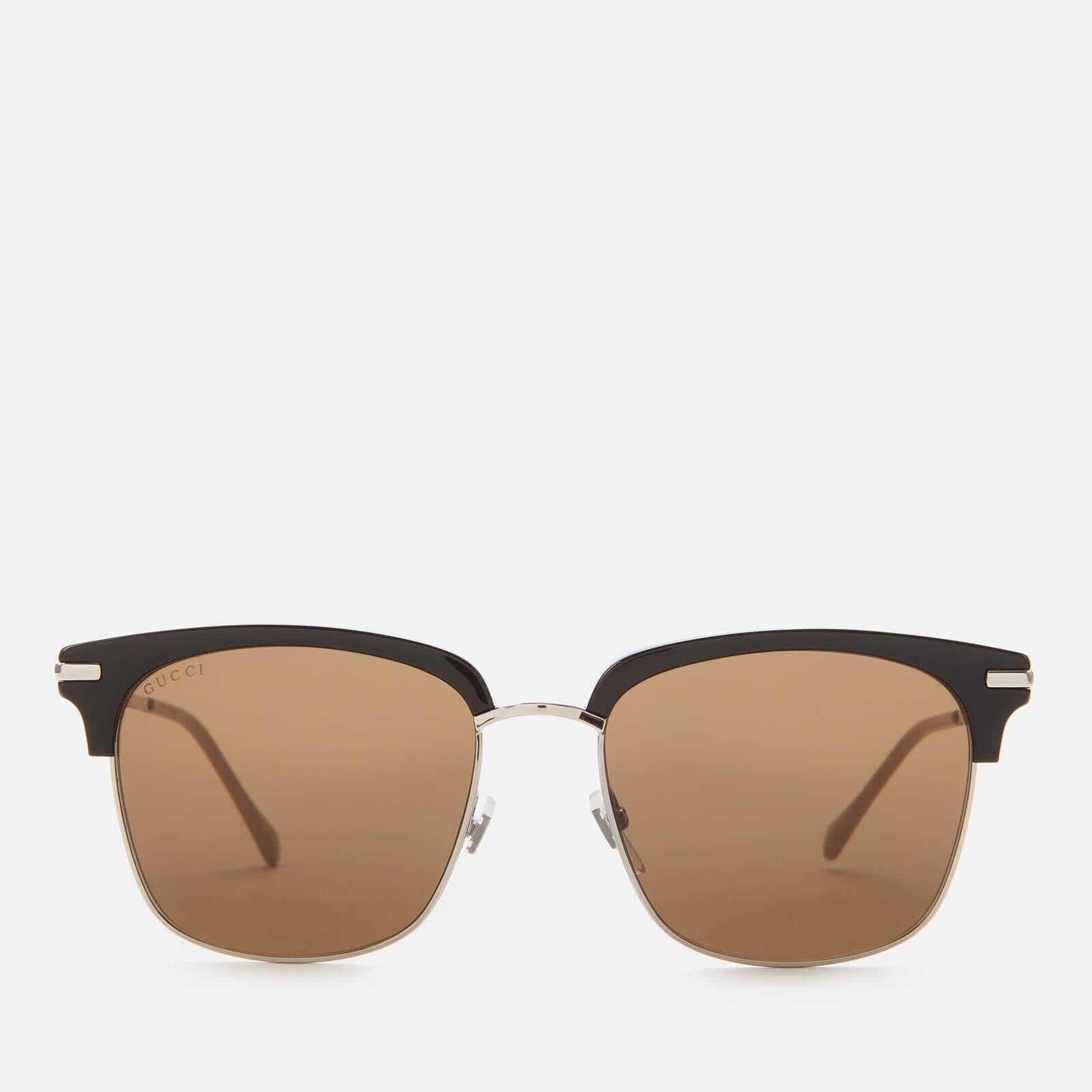 Gucci Men's Metal Sunglasses - Black/Silver/Brown