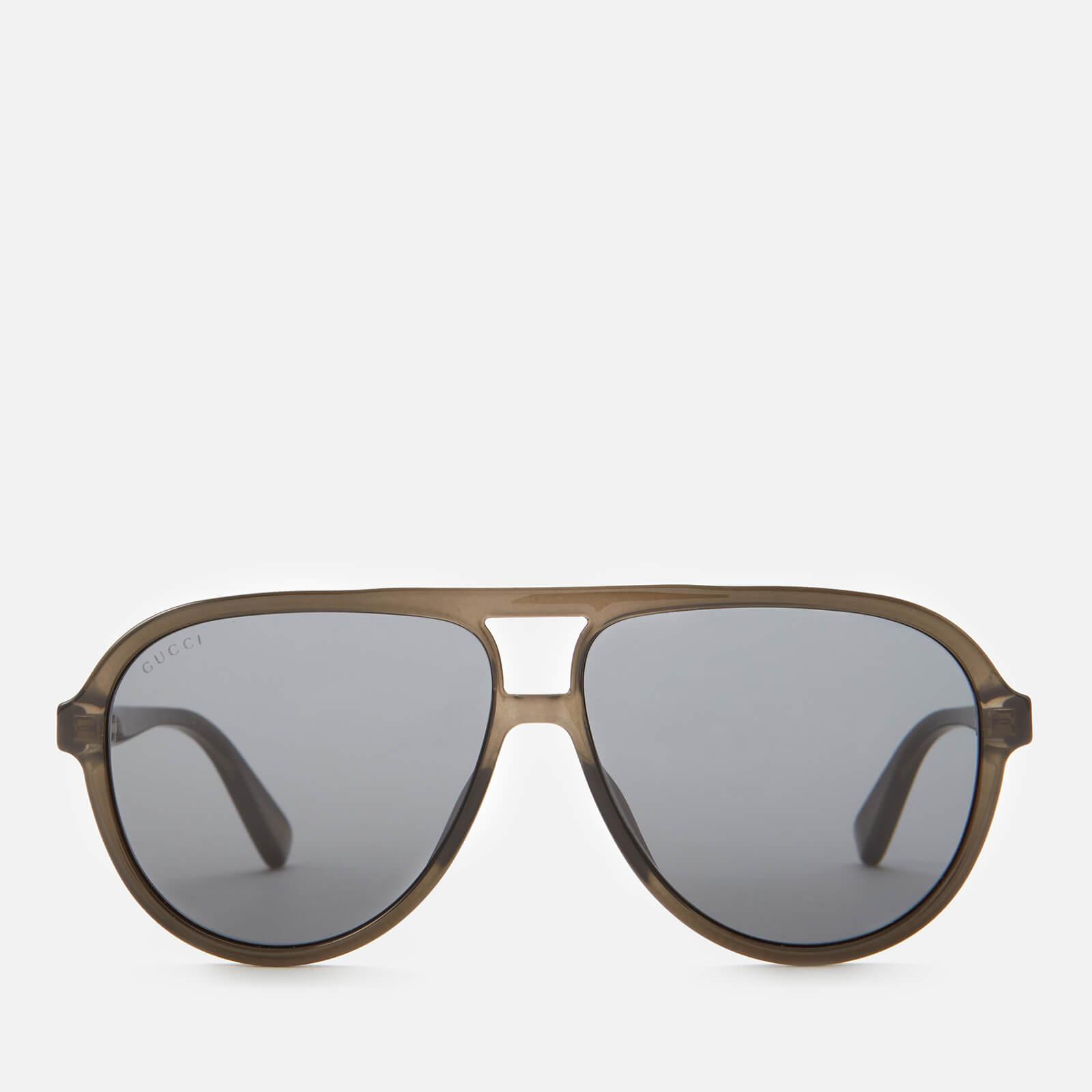 Gucci Men's Aviator Sunglasses - Grey