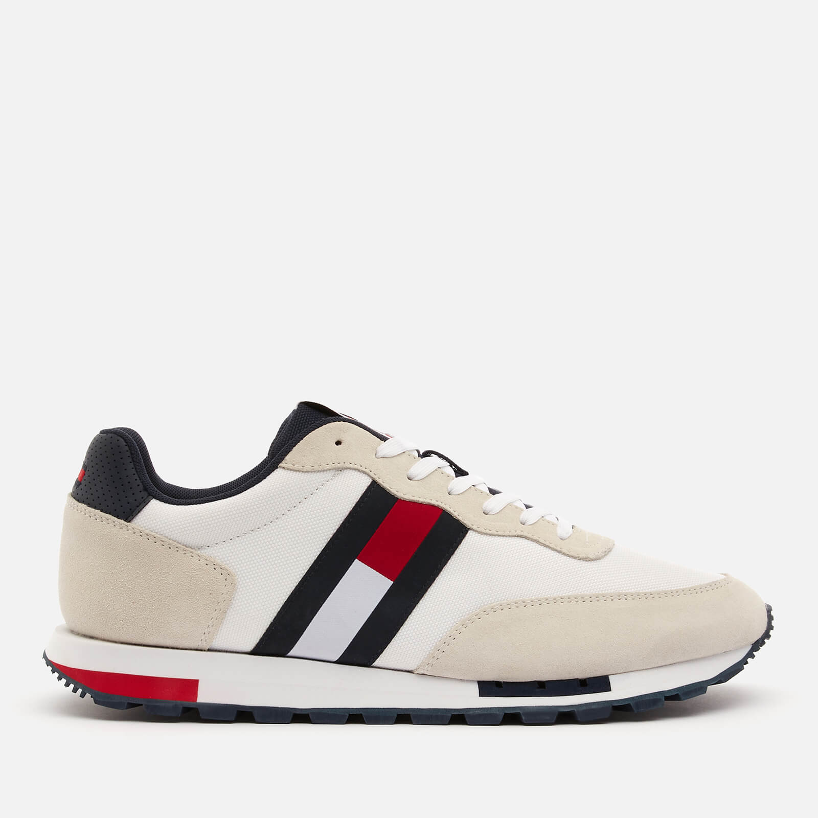 Tommy Jeans Men's Retro Mix Pop Running Style Trainers - White - UK 7