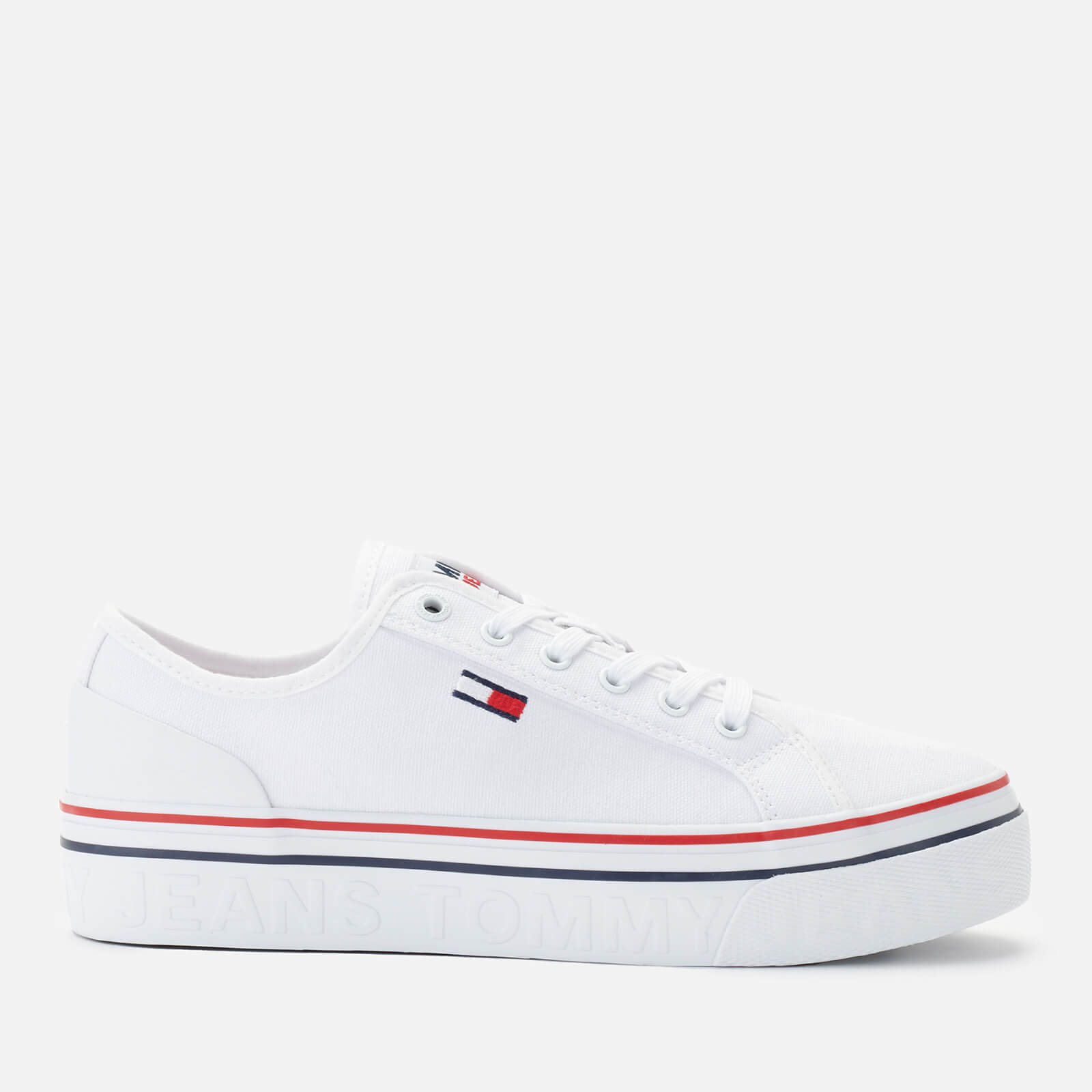 Tommy Jeans Women's Vulcanised Flatform Trainers - White - UK 3.5