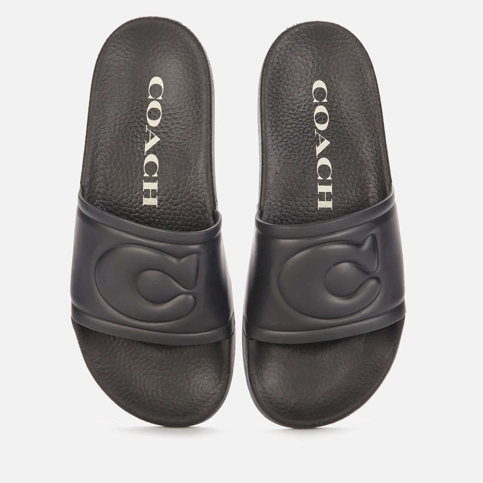 Coach Women's Ula Rubber Slide Sandals - Black - Uk 3