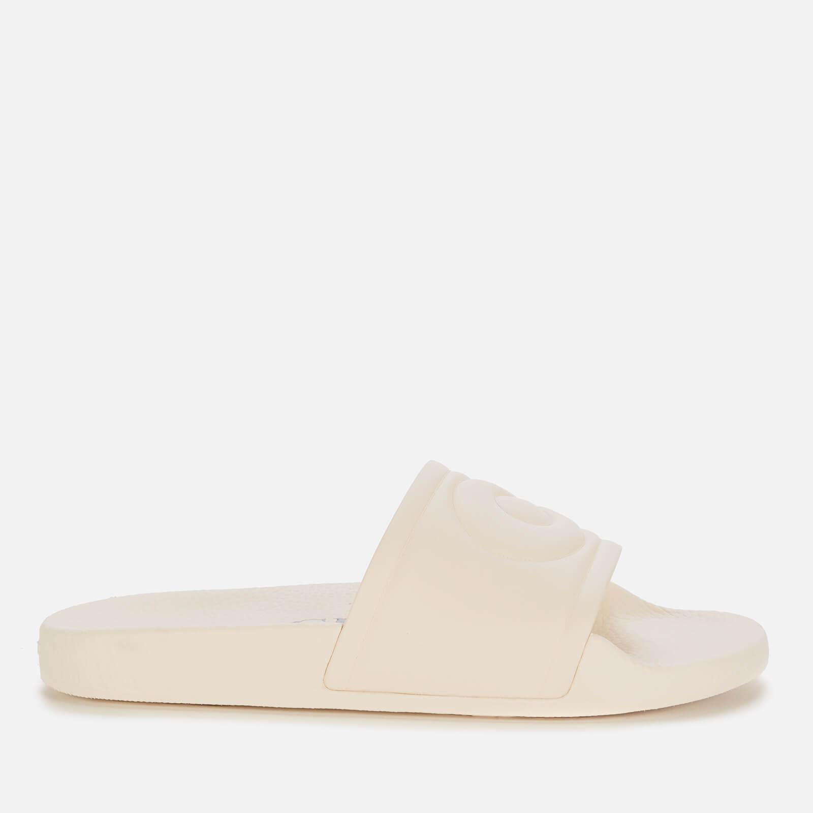 Coach Women's Ula Rubber Slide Sandals - Chalk - Uk 3
