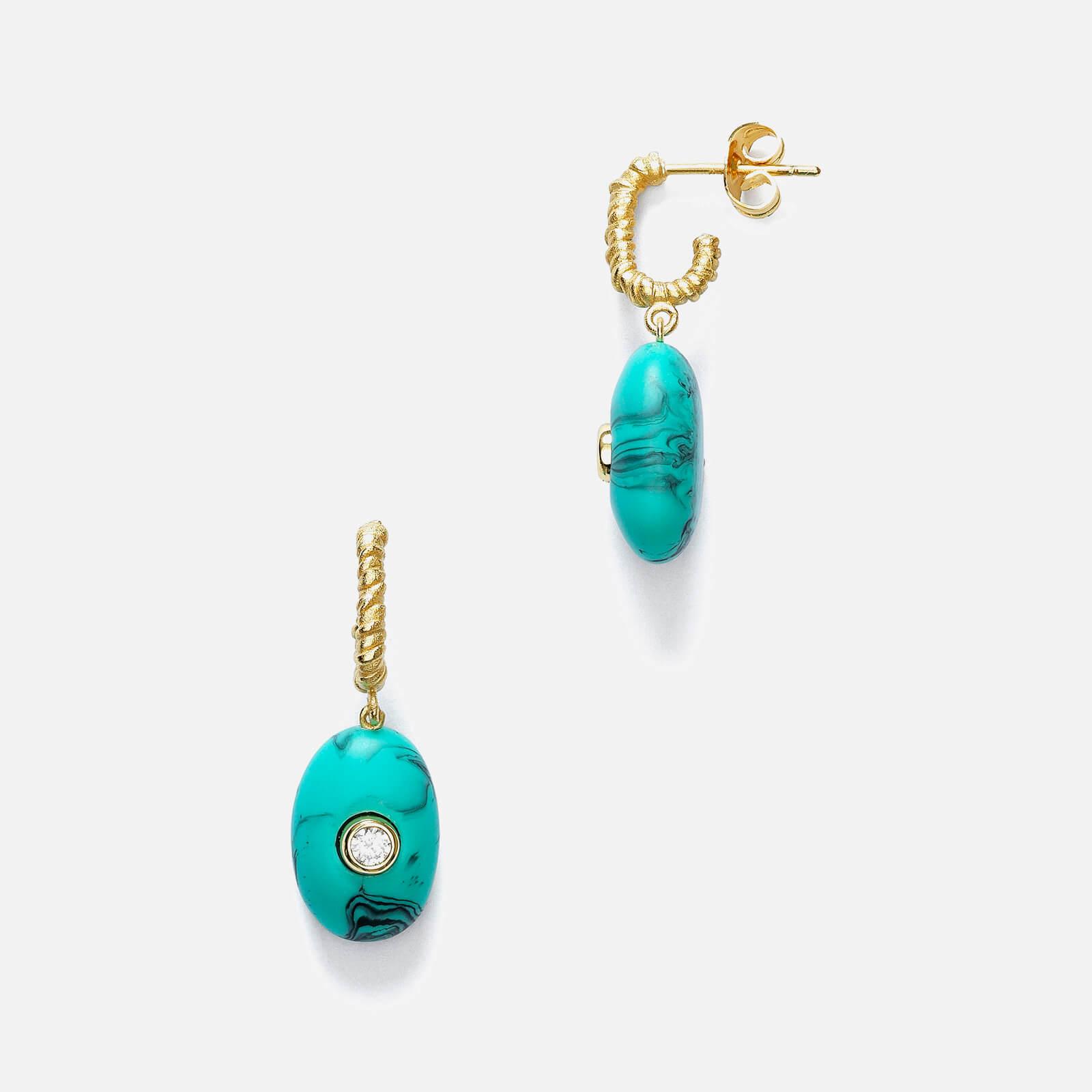 Anni Lu Women's Pebble Beach Earrings - Turquoise Foam