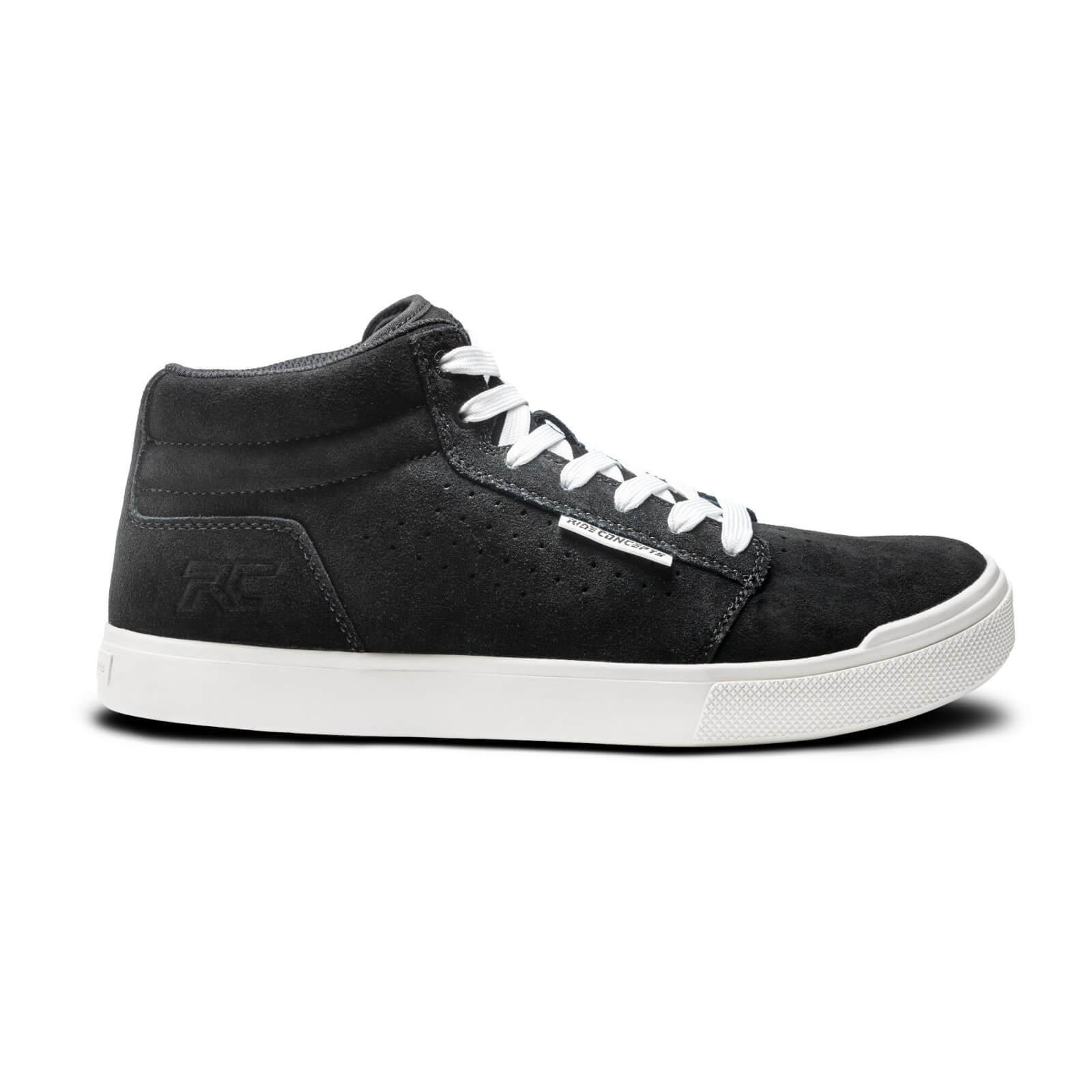 Ride Concepts Vice Mid Flat MTB Shoes - UK 10.5/EU 44.5 - Black/White